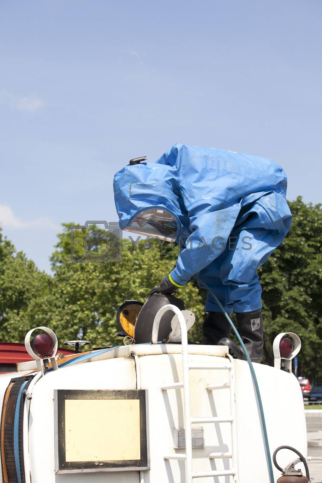 Royalty free image of Chemical accident  by wellphoto