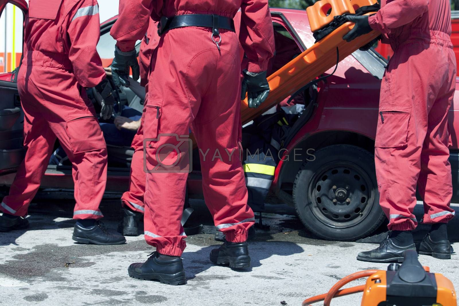 Royalty free image of Rescue operation after a car crash by wellphoto