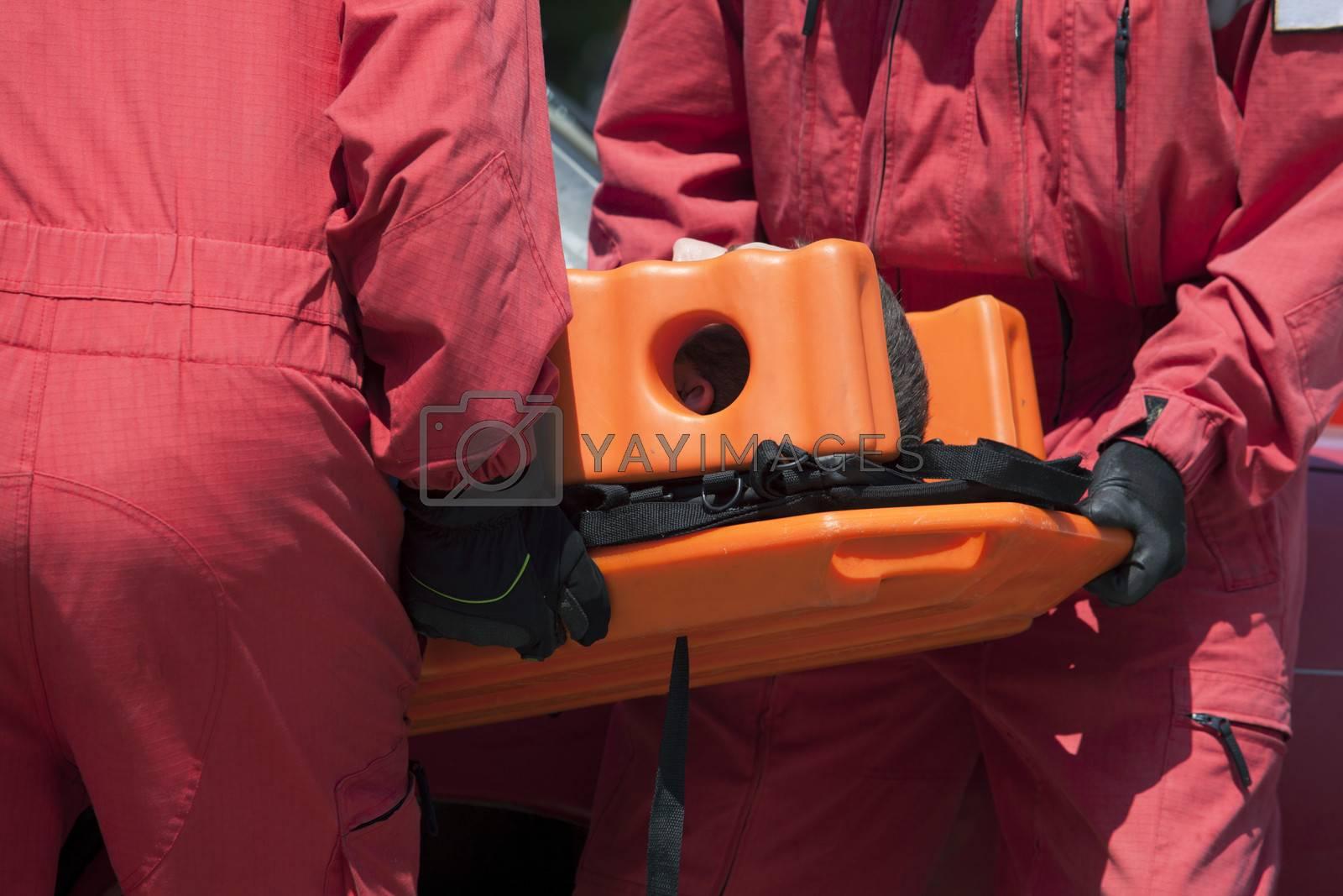 Rescue team training