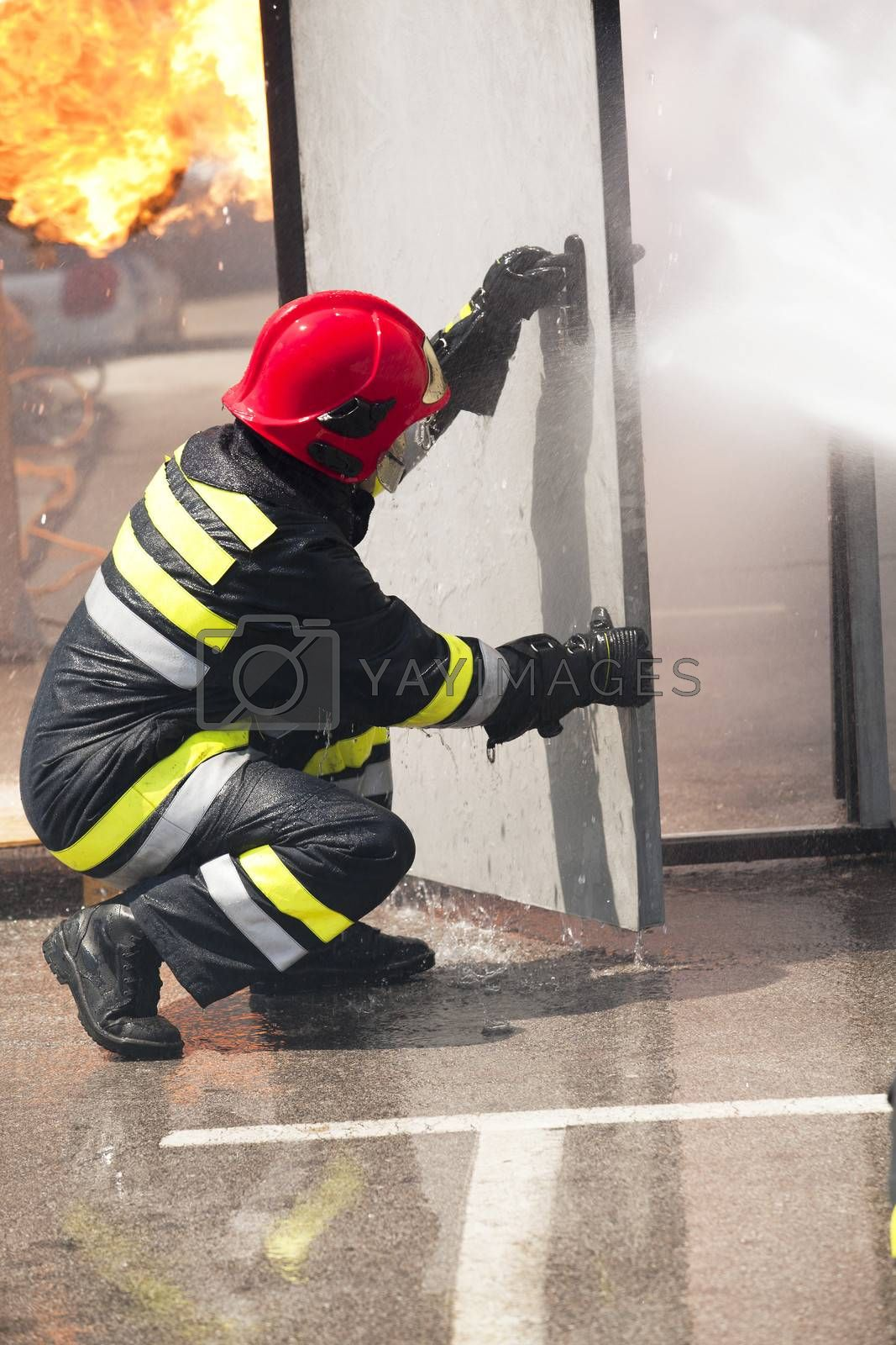 Royalty free image of Firefighter by wellphoto