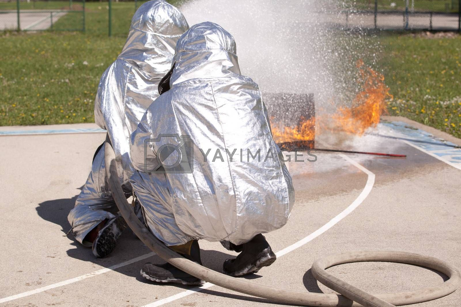 Royalty free image of Firefighter training by wellphoto