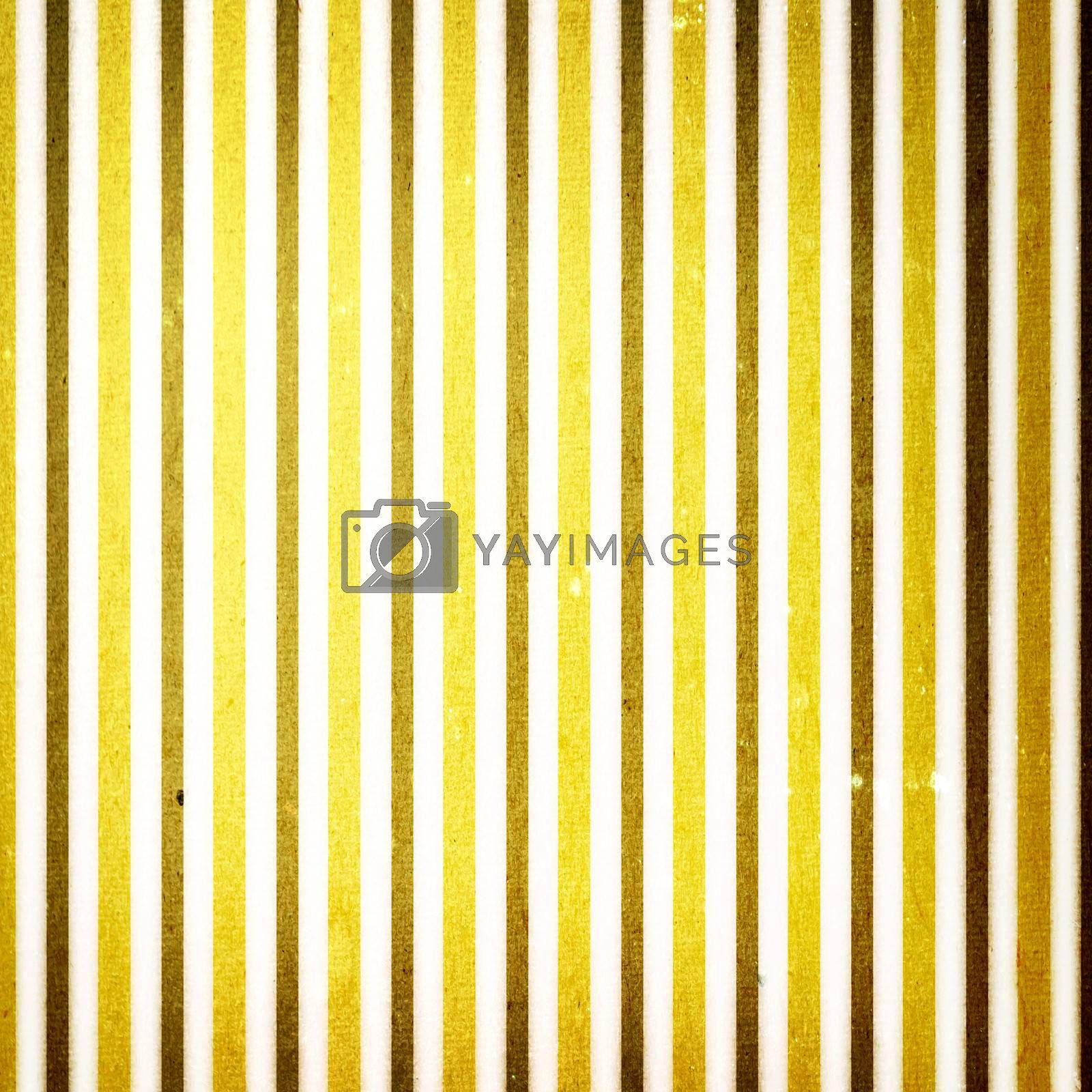 Royalty free image of Yellow and white striped background by melpomene