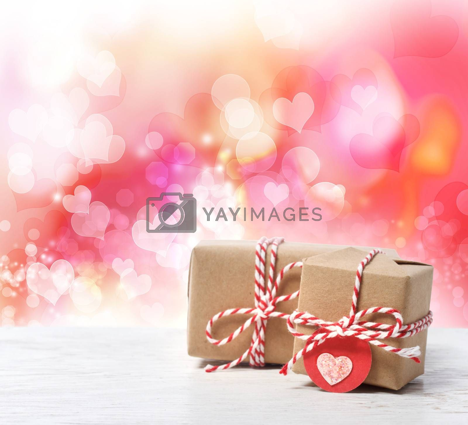 Royalty free image of Small handmade gift boxes by melpomene