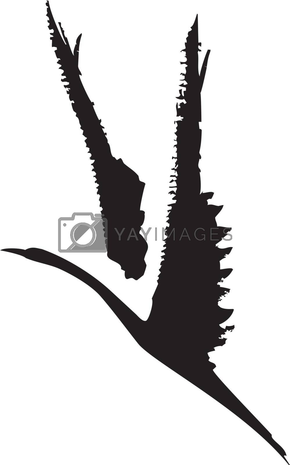 Rough Bird in Flight by Xochicalco