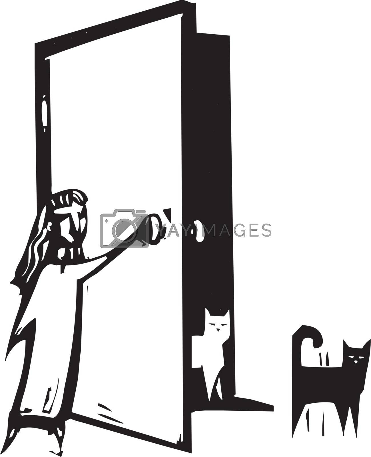 Cat Door by Xochicalco