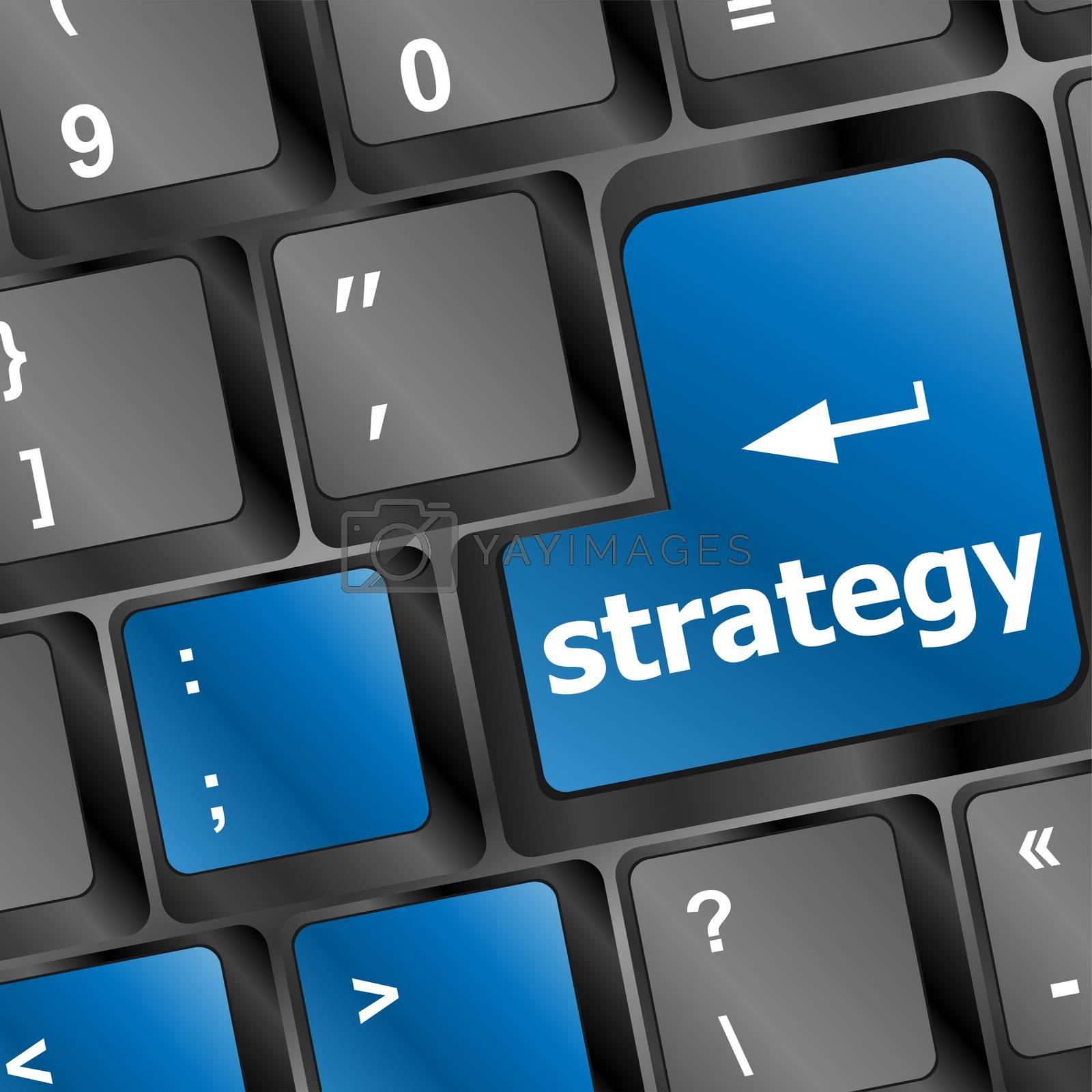 Strategy button on keyboard key button