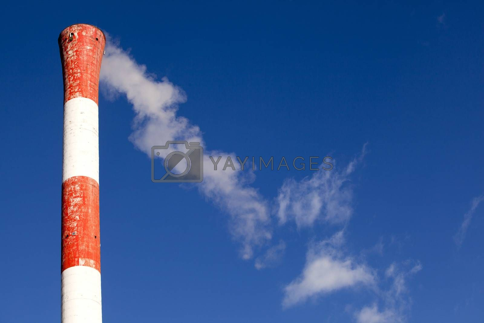 Air pollution from power plant chimney