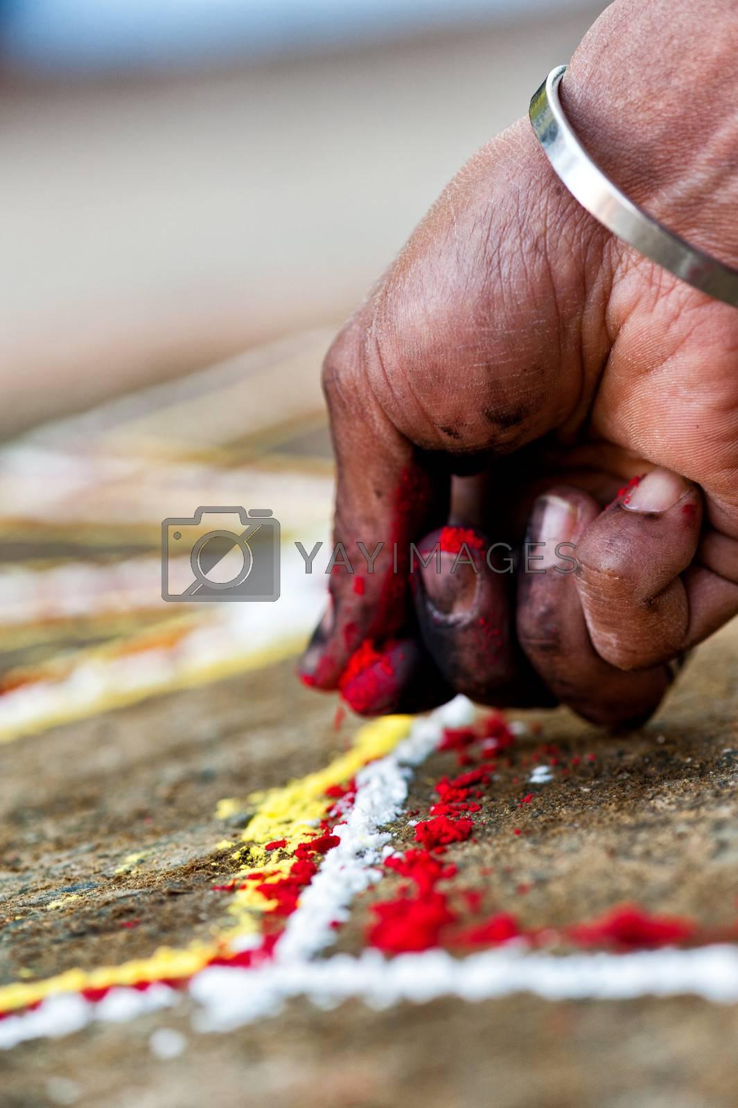 Human Hand does a Yantra, Nepal
