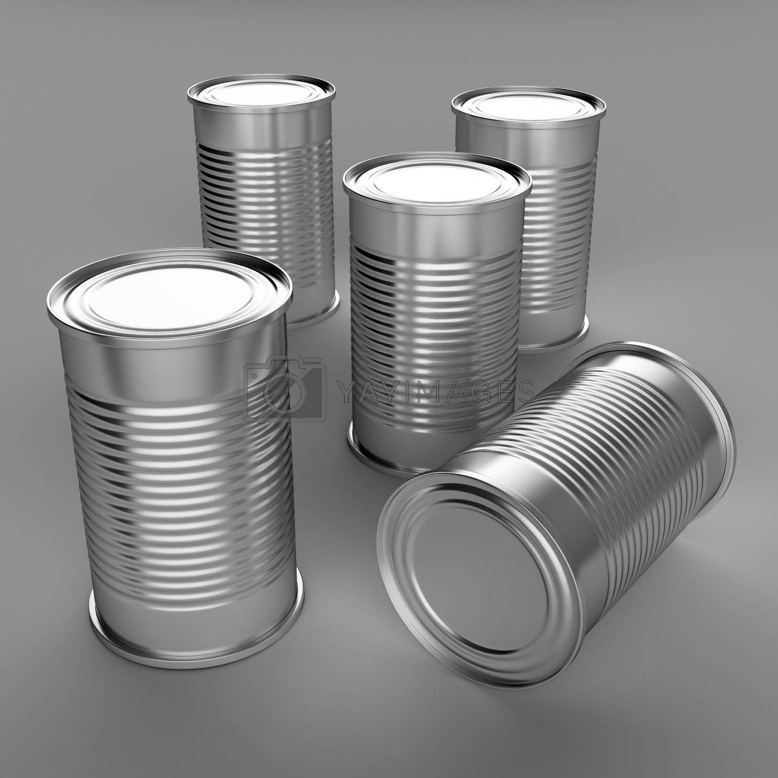 3D computer illustration with global illumination enabled