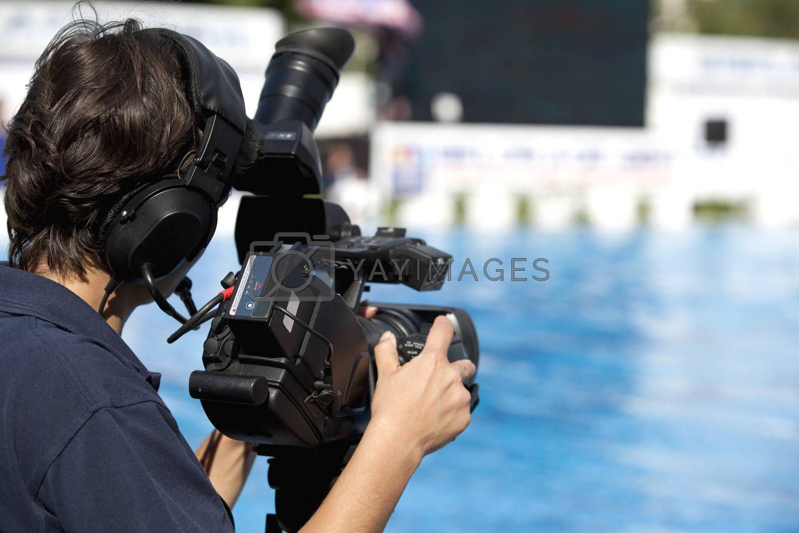 Royalty free image of TV broadcasting by wellphoto