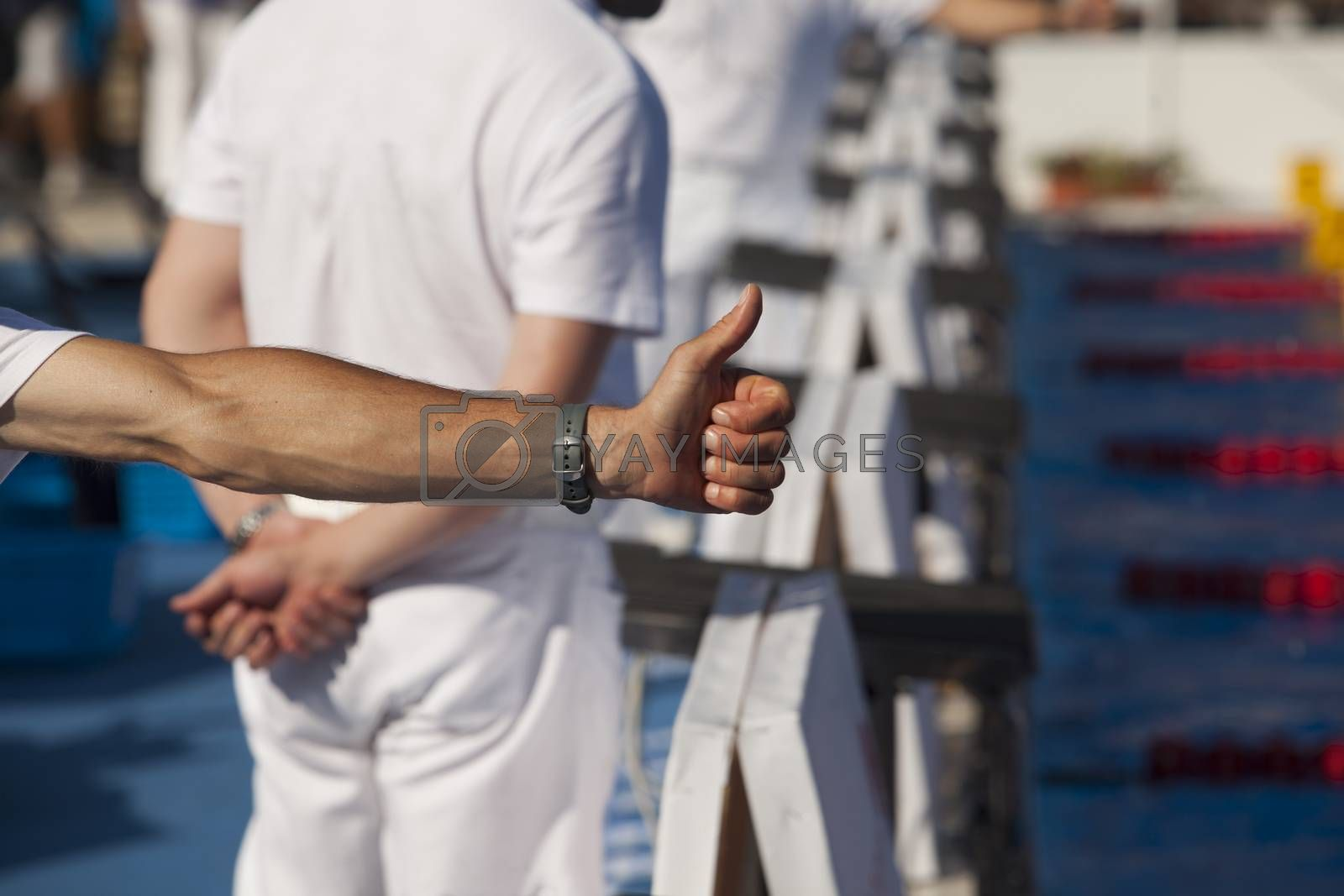 Royalty free image of Thumbs up by wellphoto