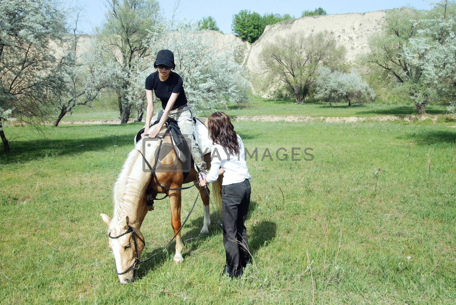 Horse riding by Novic