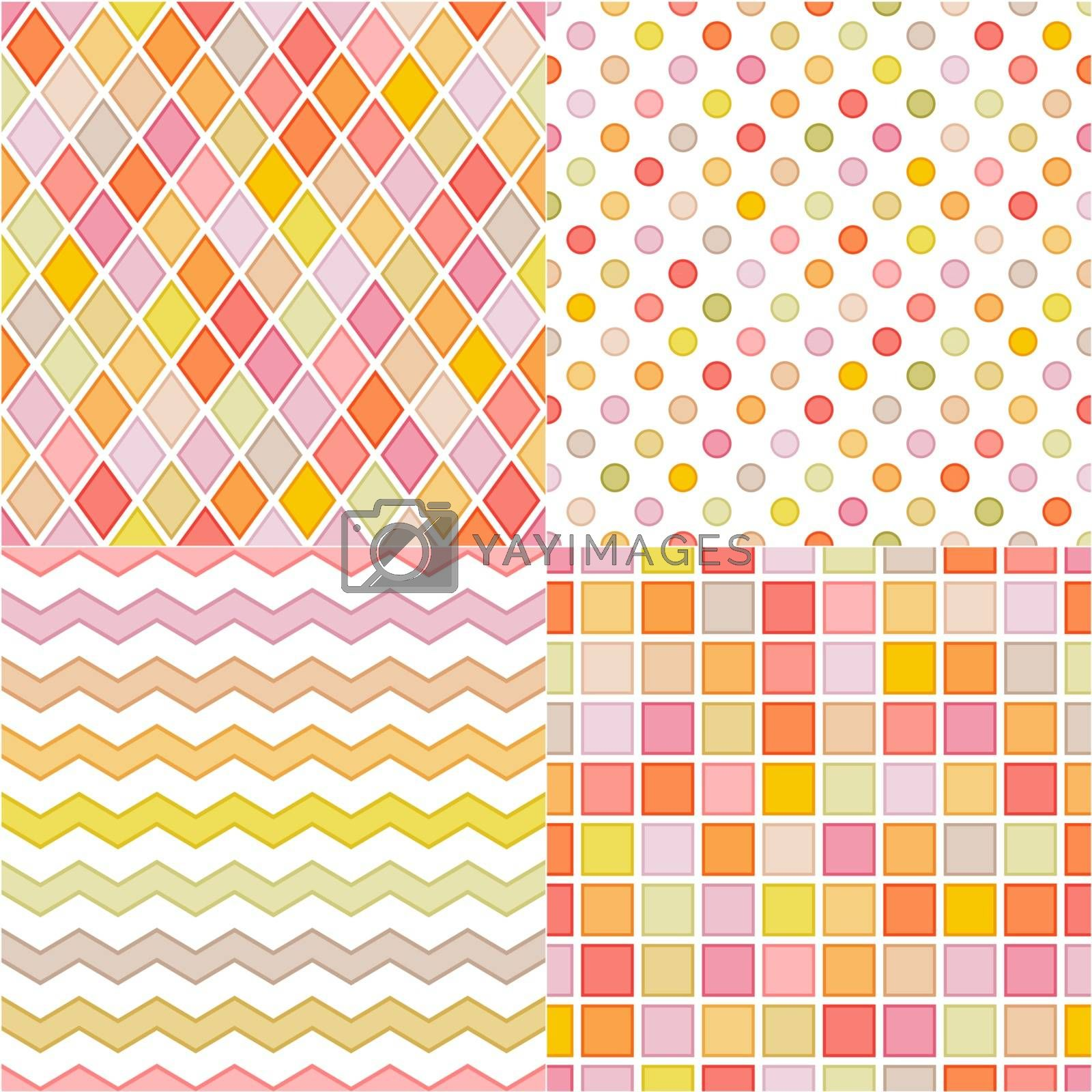 seamless soft multicolor pattern