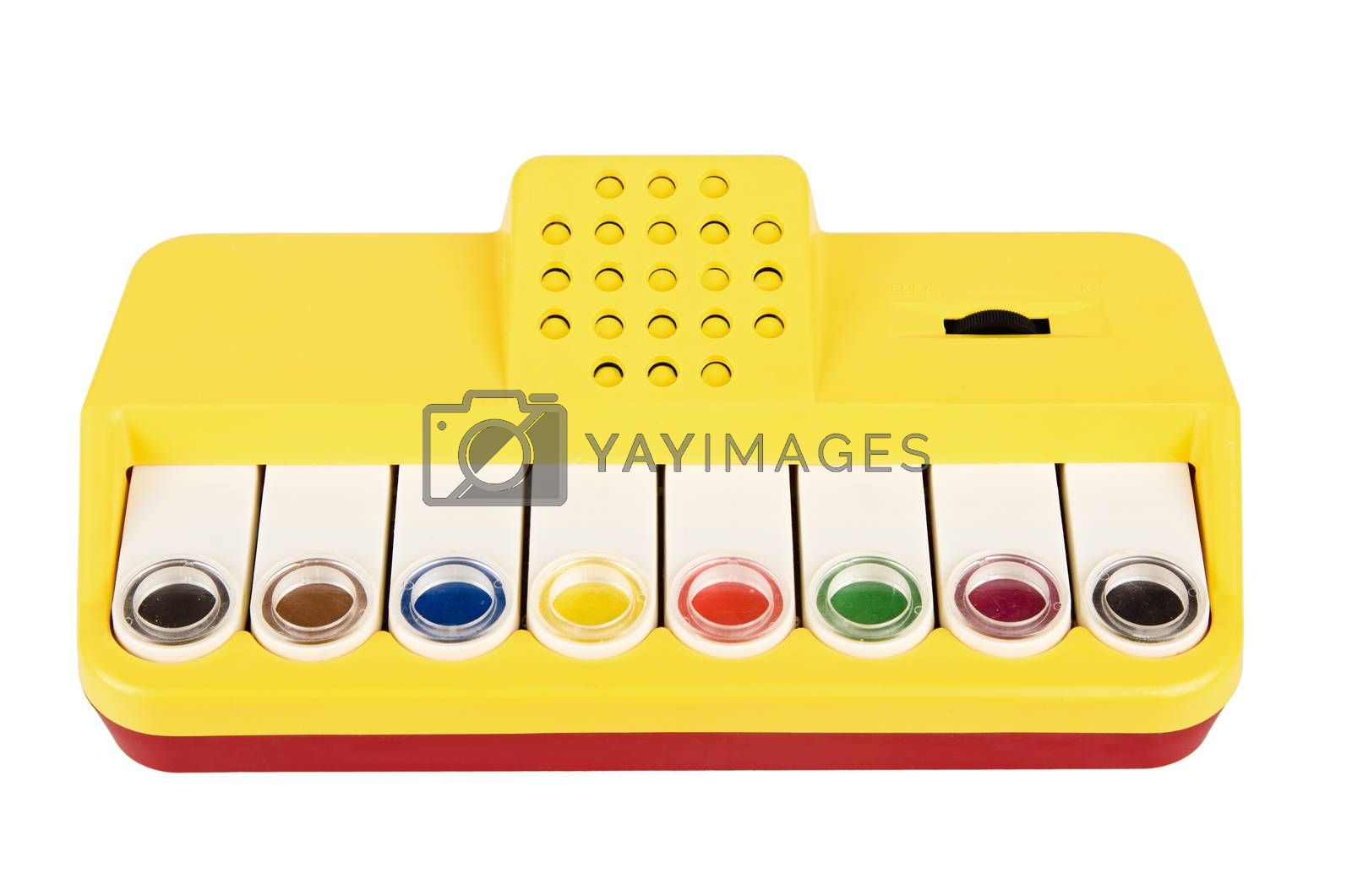 Baby Musical Toy 80s of the 20th century, isolated
