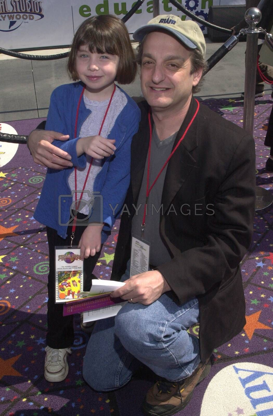 David Paymer and Daughter at the Education Works benefit to promote after-school activities, Universal Studios Hollywood, 03-25-00