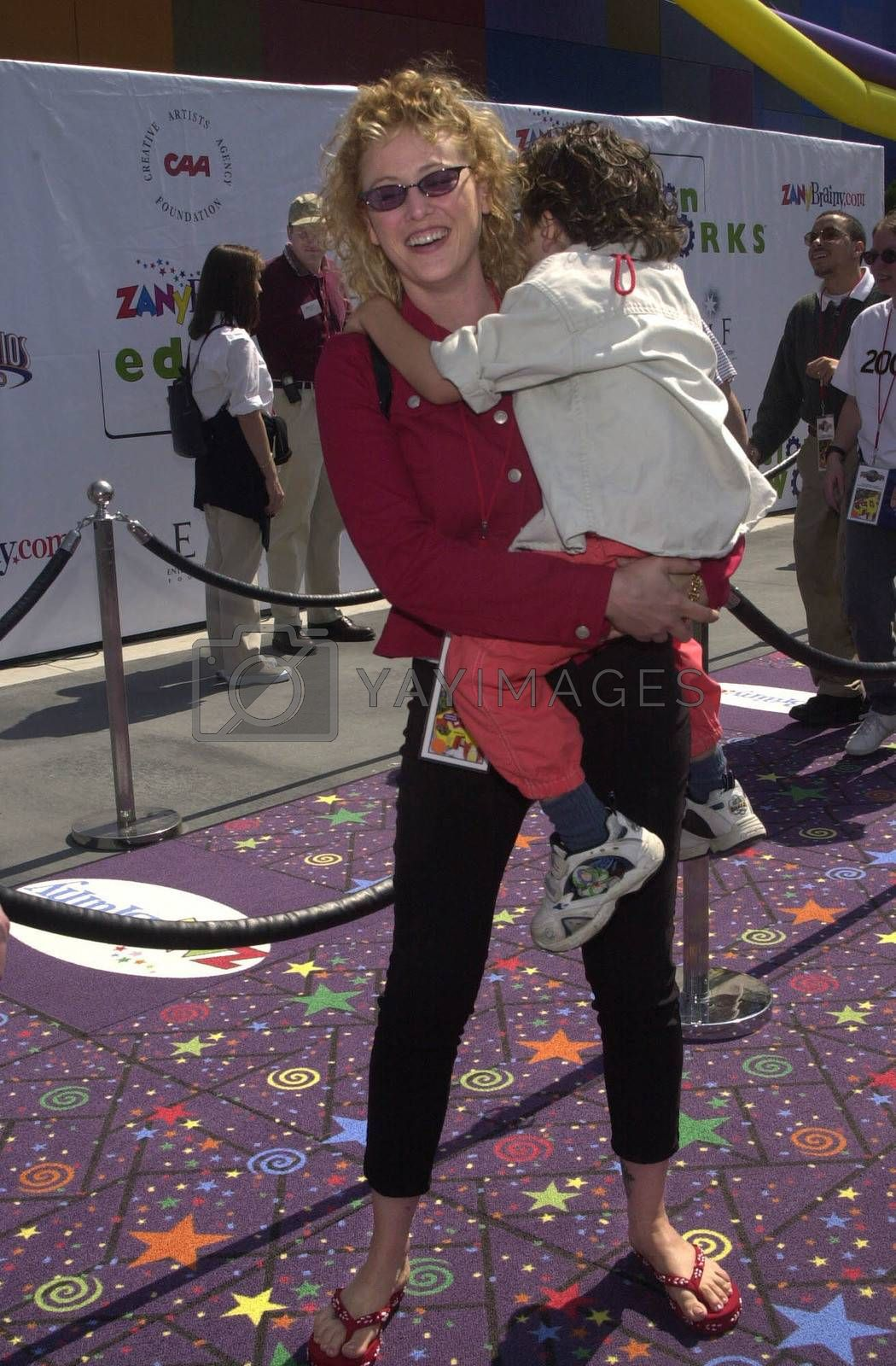 Virginia Madsen and daughter at the Education Works benefit to promote after-school activities, Universal Studios Hollywood, 03-25-00