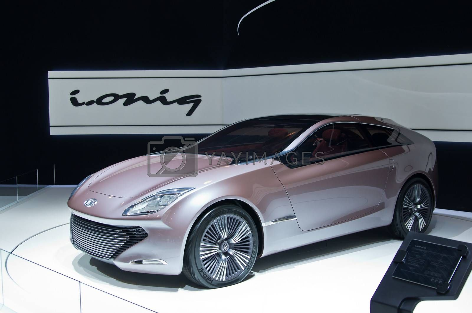MOSCOW-SEPTEMBER 6: Hyundai  concept i-oniq at the Moscow International Automobile Salon on September 6,2012 in Moscow