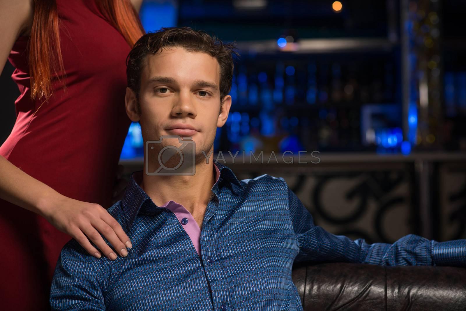 Portrait of a successful man in a nightclub by adam121