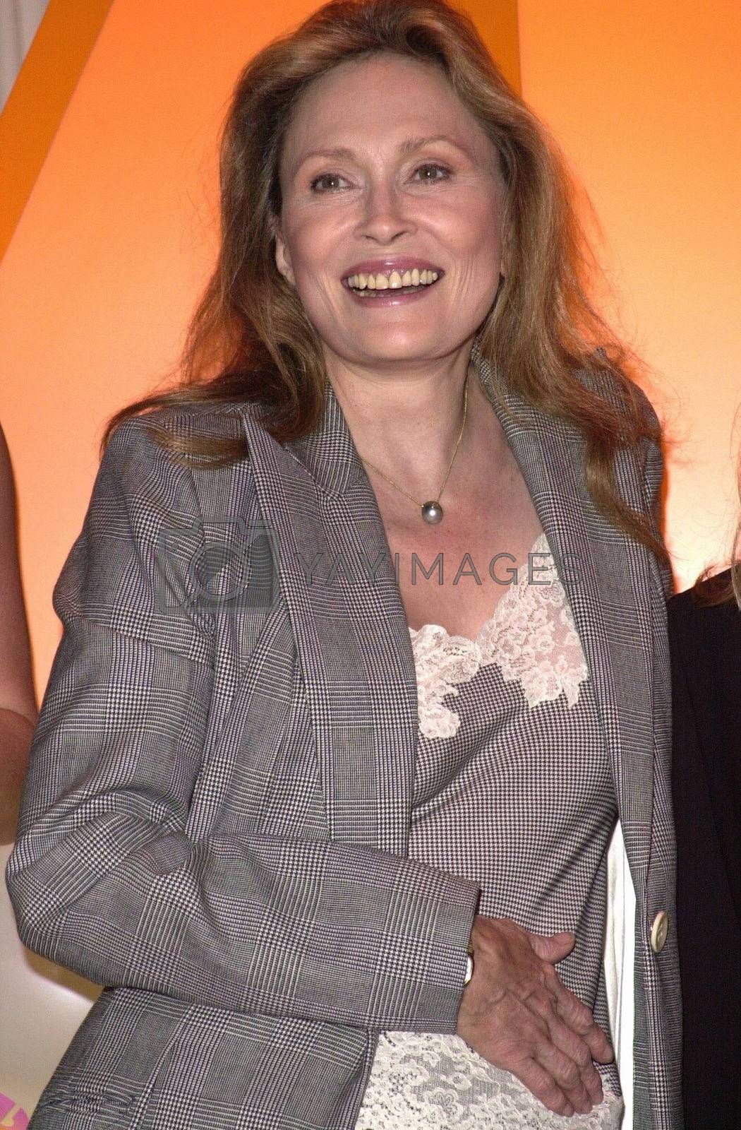 Faye Dunaway at the unveiling of the new name for Romance Classics Television in Los Angeles, 11-29-00