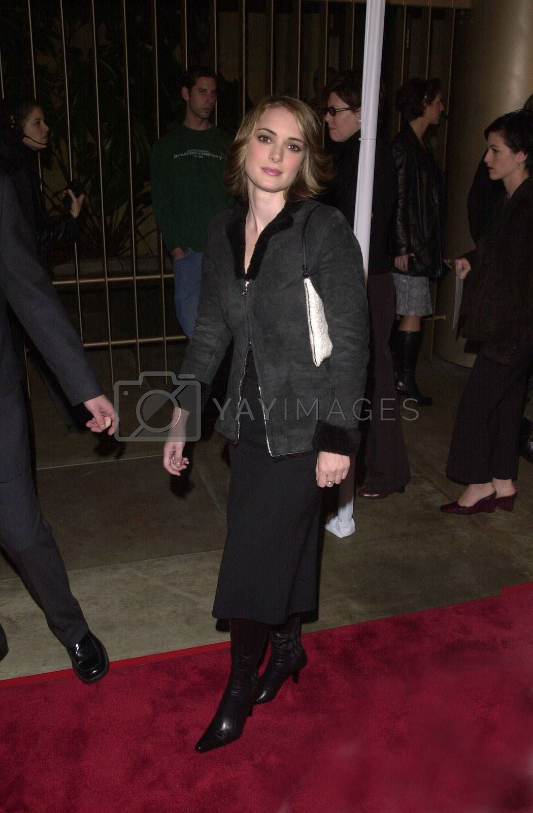 """Winona Ryder at the premiere of New Line Cinema's """"Lost Souls"""" in Hollywood, 10-11-00"""