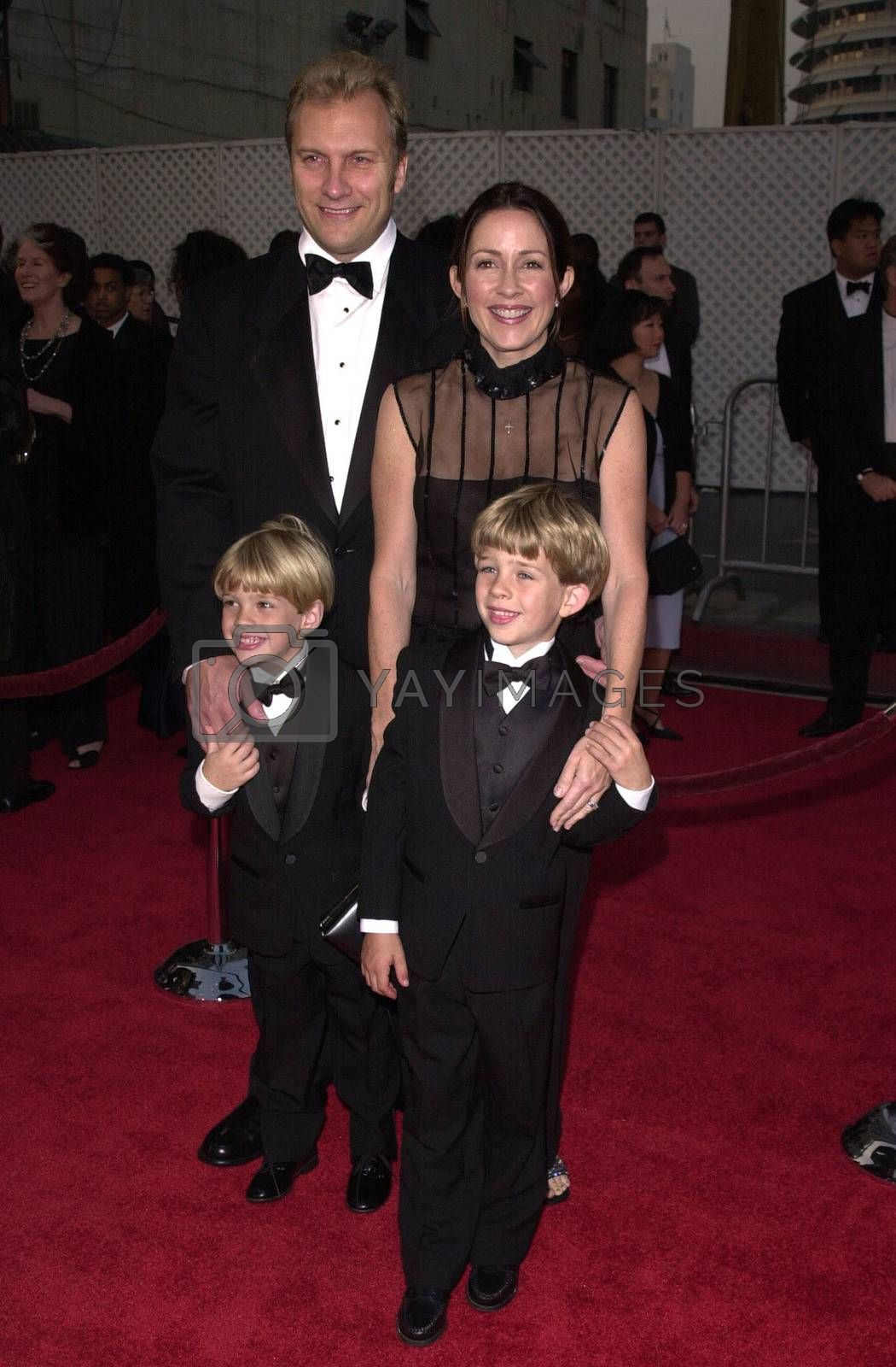 """Patricia Heaton and Family at a special presentation of Disney's """"The Lion King"""" benfitting the Karabo Foundation, Pantages Theater, 10-18-00"""