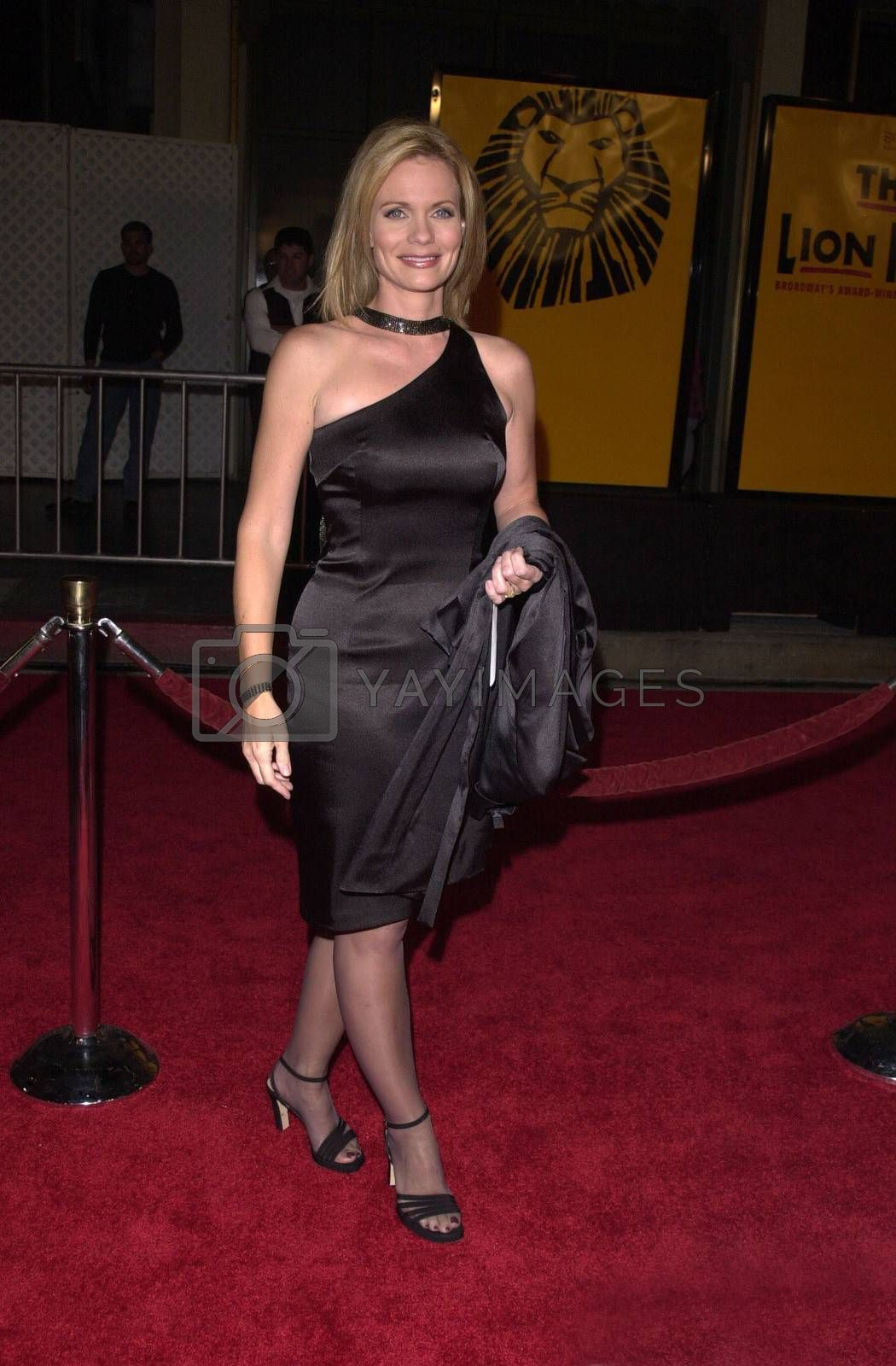 """Jann Carl at a special presentation of Disney's """"The Lion King"""" benfitting the Karabo Foundation, Pantages Theater, 10-18-00"""