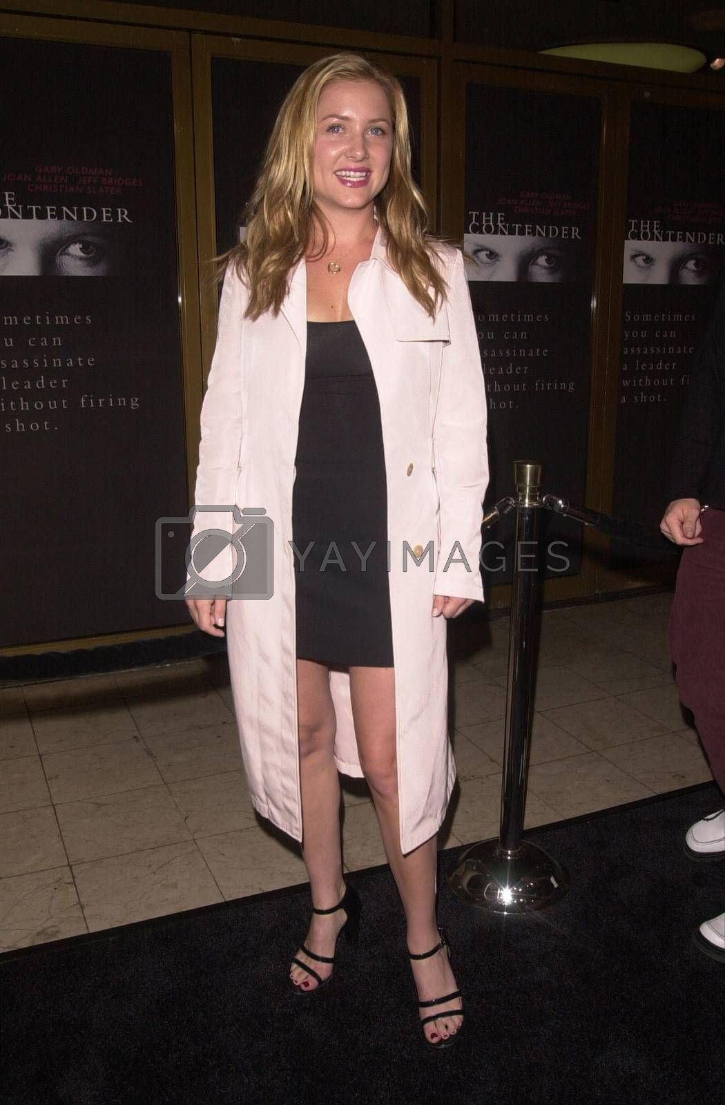 """Jessica Capshaw at the premiere of Dreamworks """"The Contender"""" in Westwood, 10-05-00"""