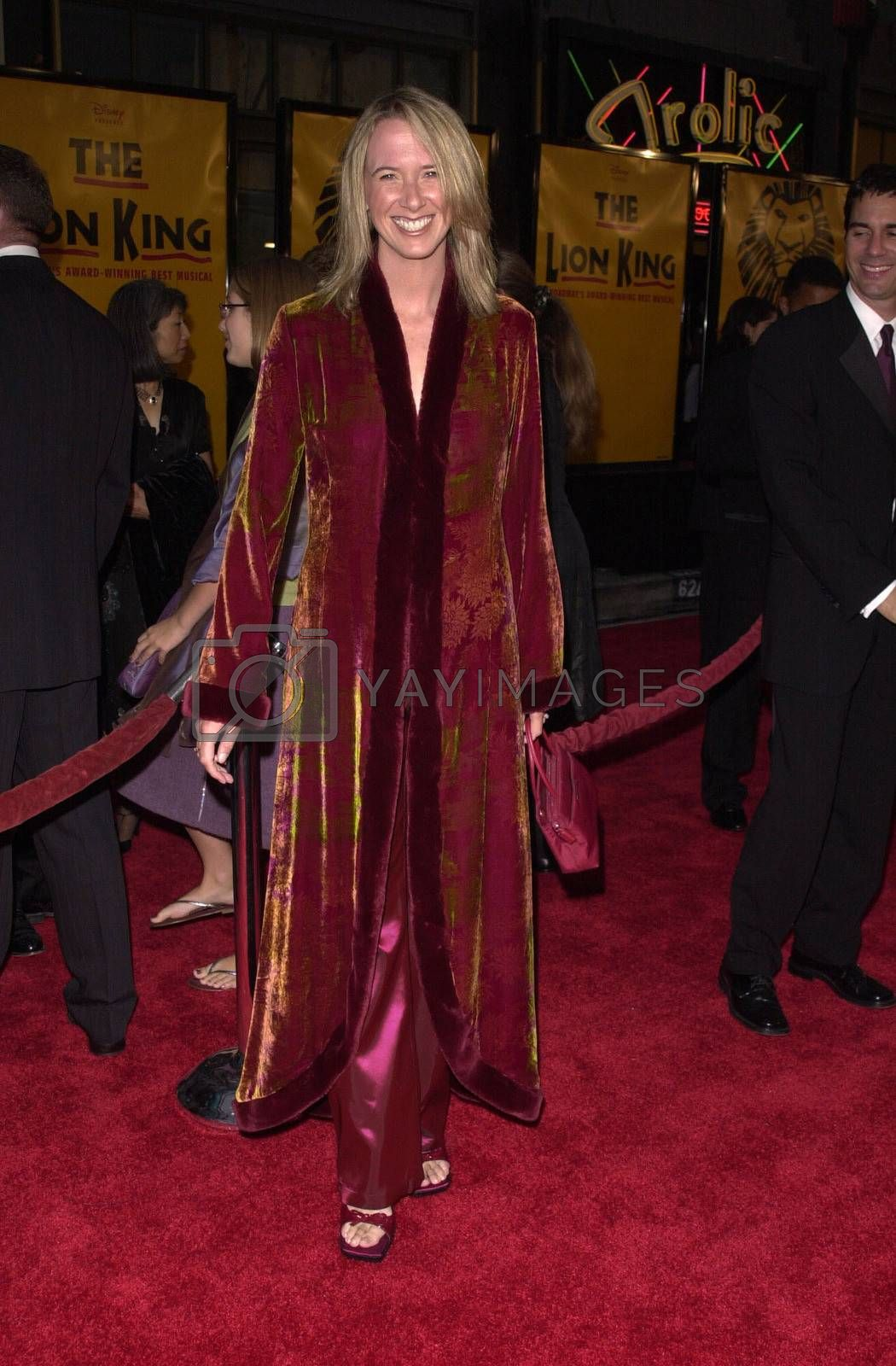 """Janet Holden at a special presentation of Disney's """"The Lion King"""" benfitting the Karabo Foundation, Pantages Theater, 10-18-00"""