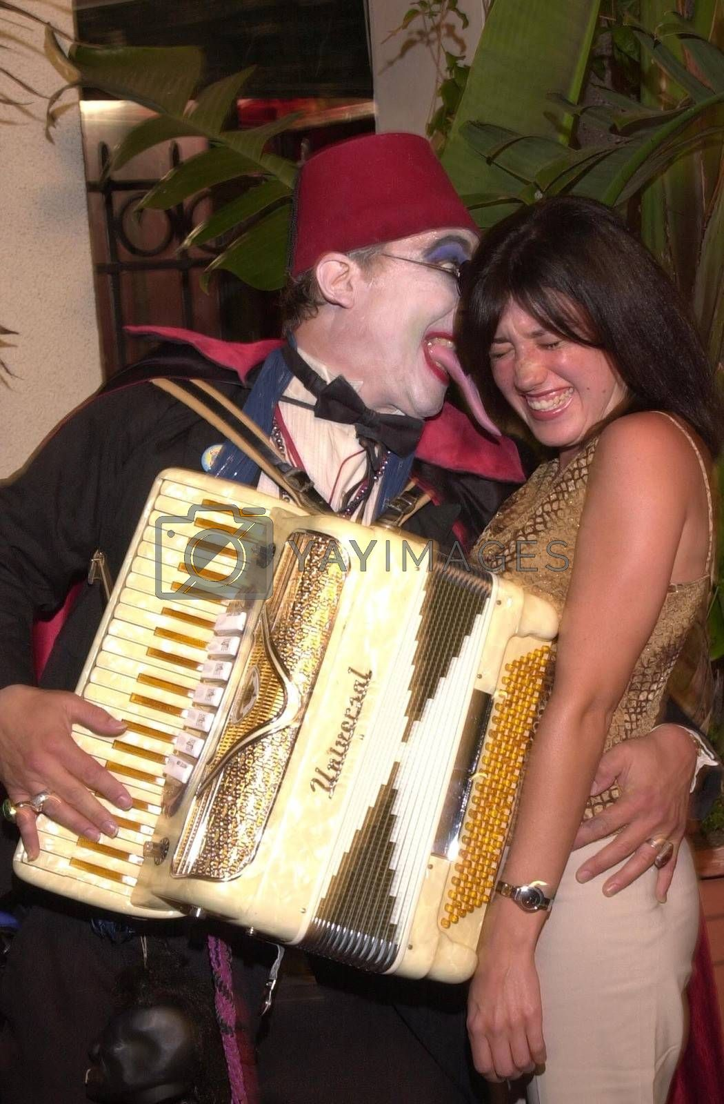 Count Smokula and Nikki Gangemi at the Moviemaking Technology Showcase, featuring cutting edge movie technology, as well as two fashion shows, The Century Club, Century City, CA, 09-03-02