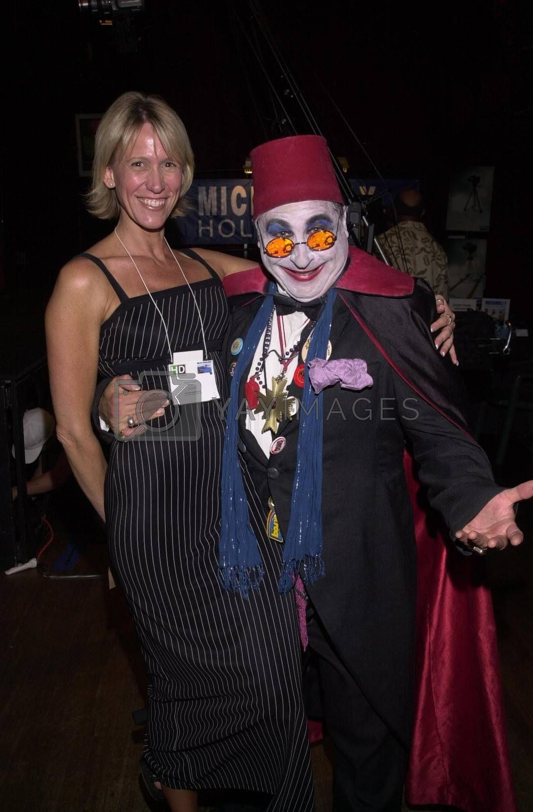 Count Smokula and friend at the Moviemaking Technology Showcase, featuring cutting edge movie technology, as well as two fashion shows, The Century Club, Century City, CA, 09-03-02