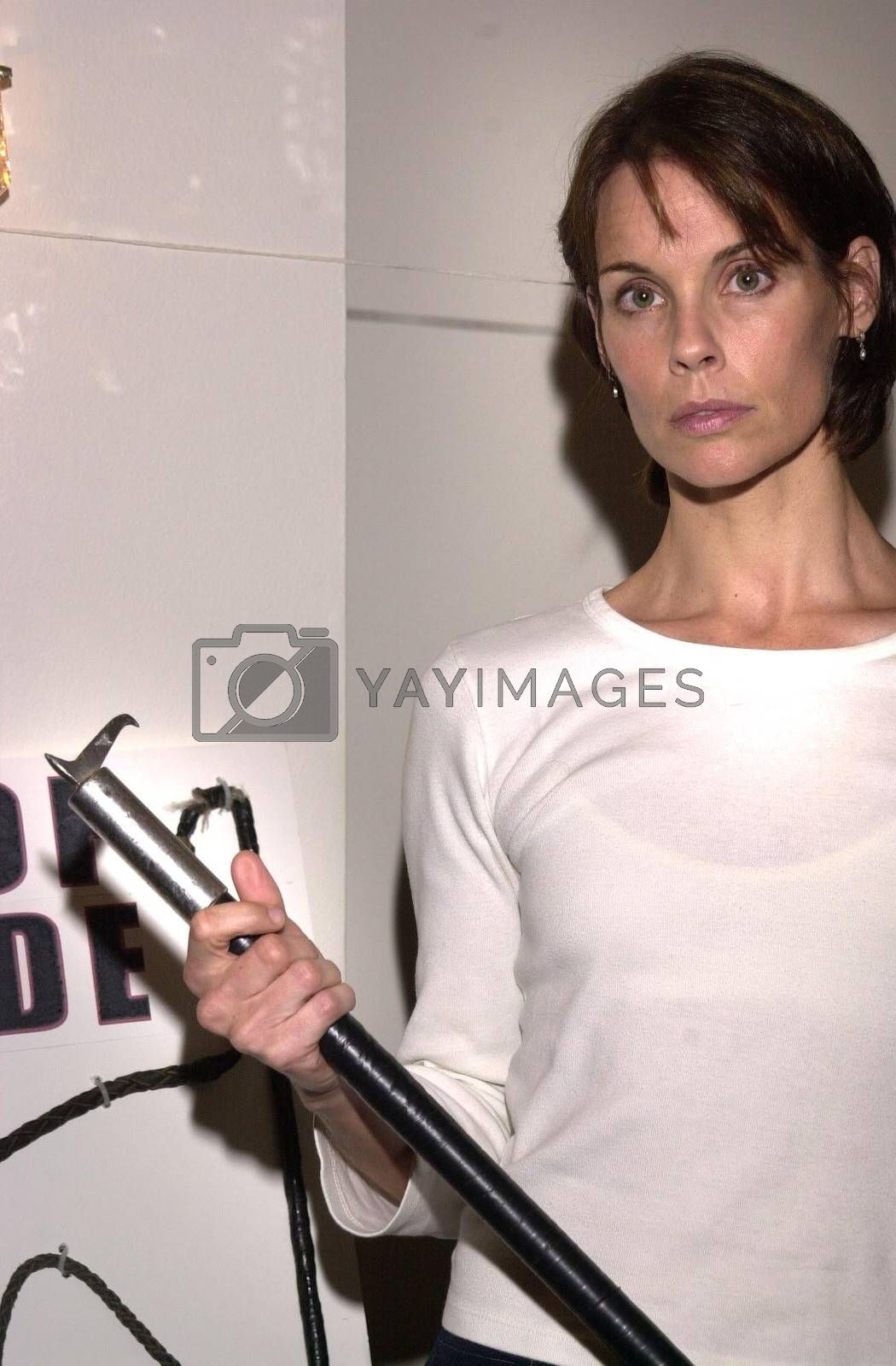 Alexandra Paul at the press conference to show animal abuse by Ringling Bros. and Barnum & Bailey Circus, Wyndham Bel Age Hotel, West Hollywood, CA 07-15-02