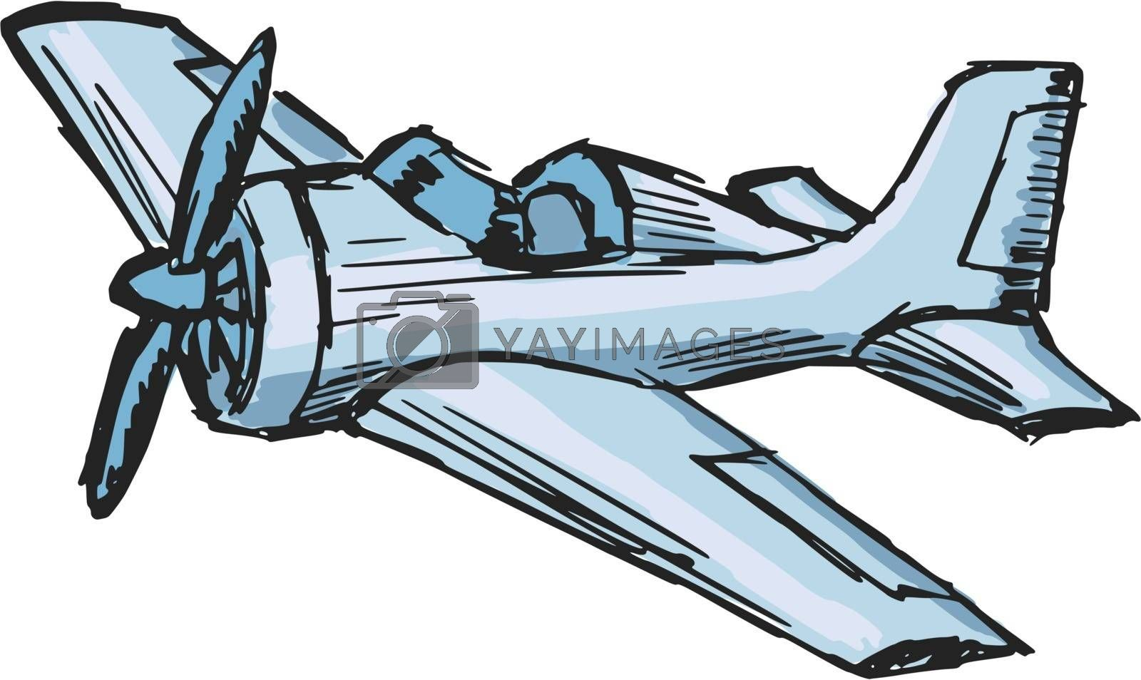 Royalty free image of cartoon airplane by Perysty