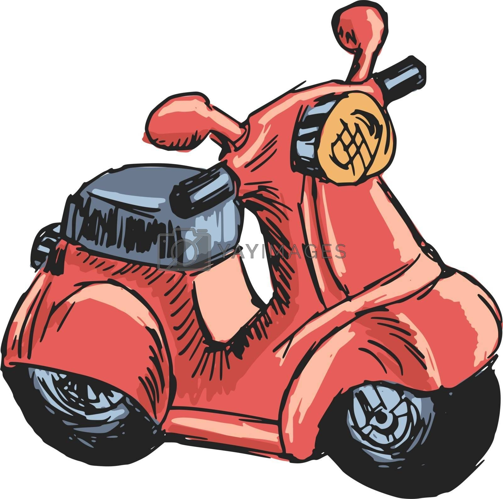 Royalty free image of toy scooter by Perysty