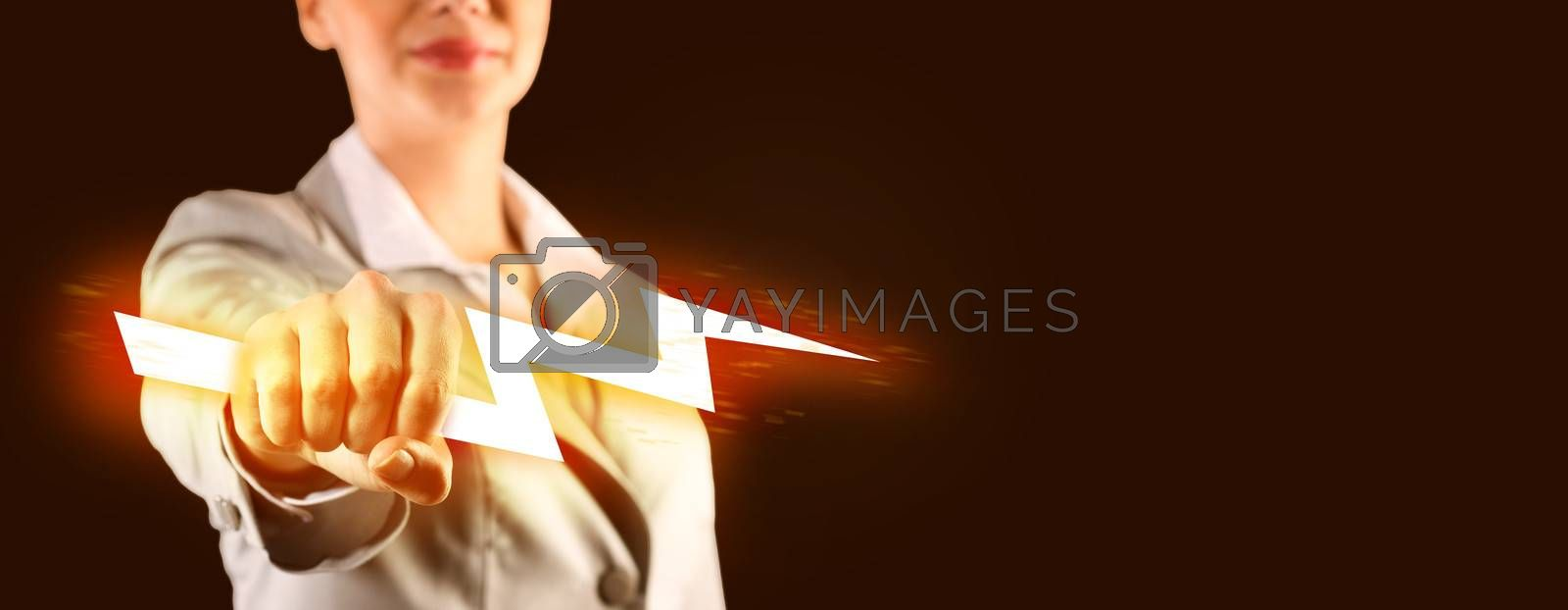 close-up of clasped hand with lights by adam121