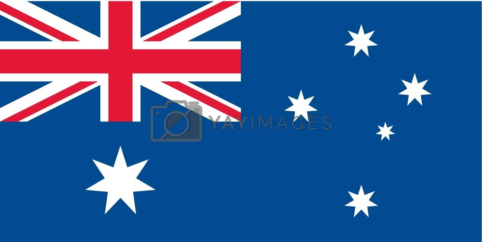 Vector Commonwealth of Australia flag