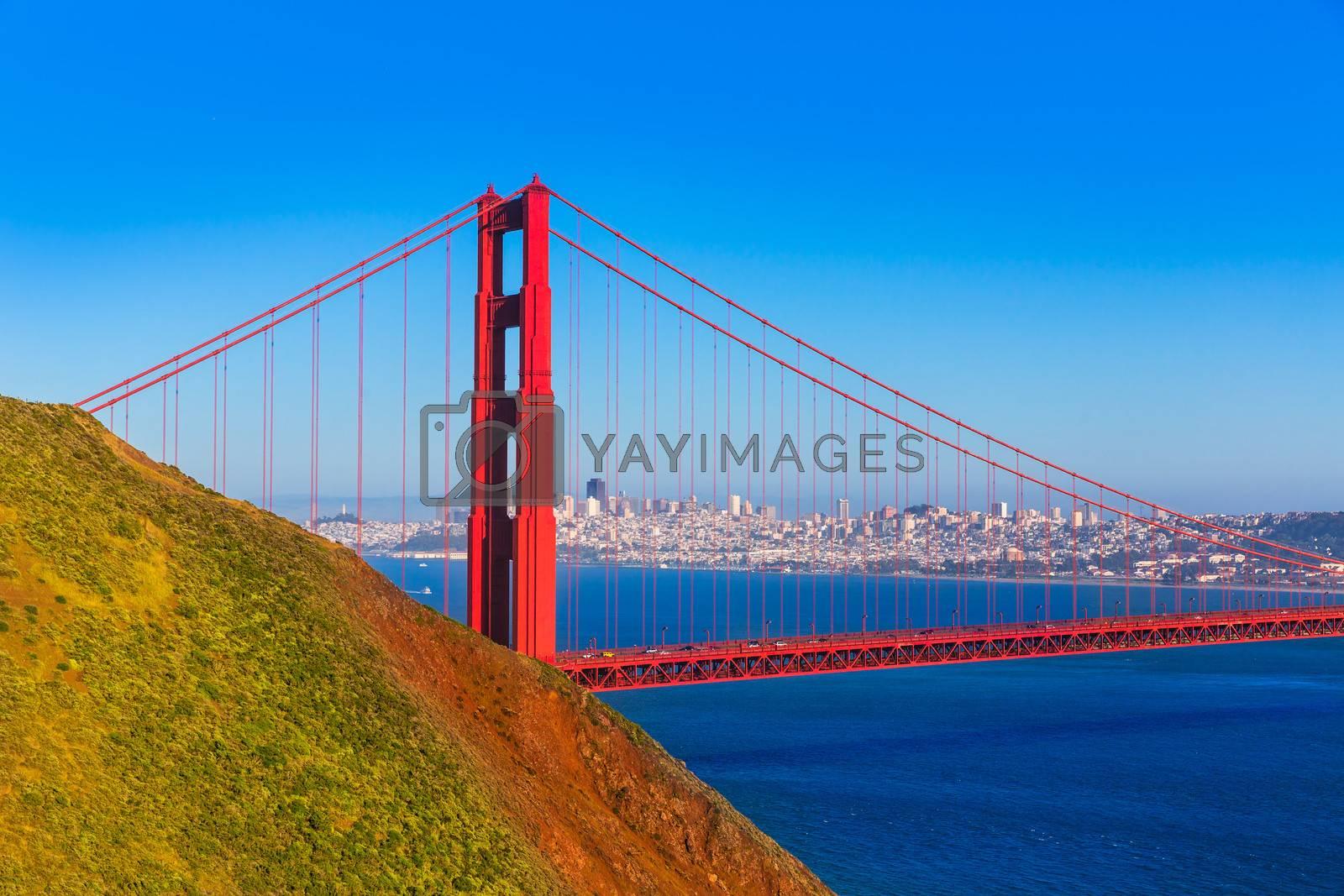 Royalty free image of San Francisco Golden Gate Bridge Marin headlands California by lunamarina
