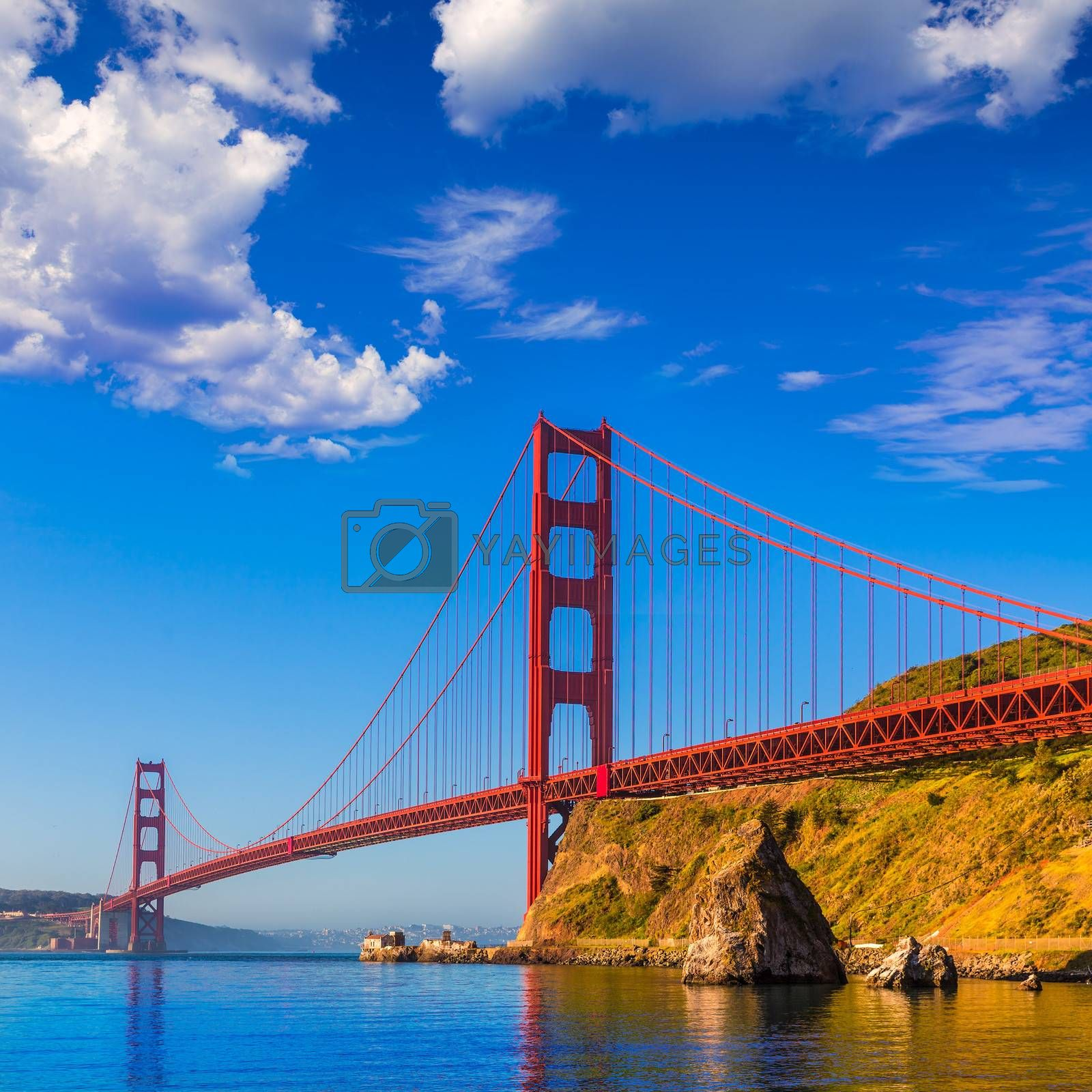 Royalty free image of San Francisco Golden Gate Bridge California by lunamarina