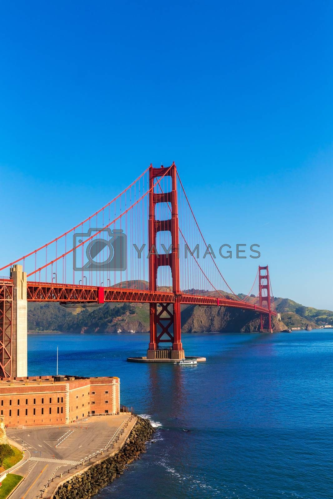 Royalty free image of Golden Gate Bridge San Francisco from Presidio California by lunamarina