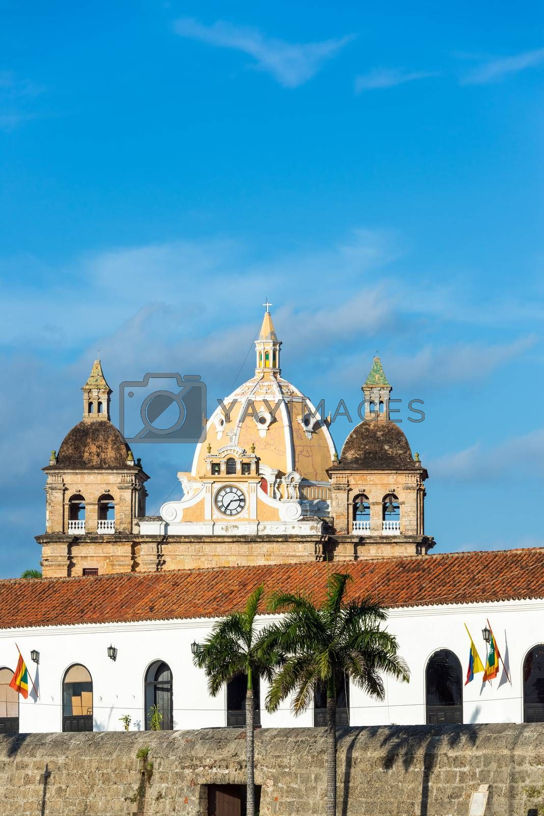 Royalty free image of Colonial Architecture and Church by jkraft5