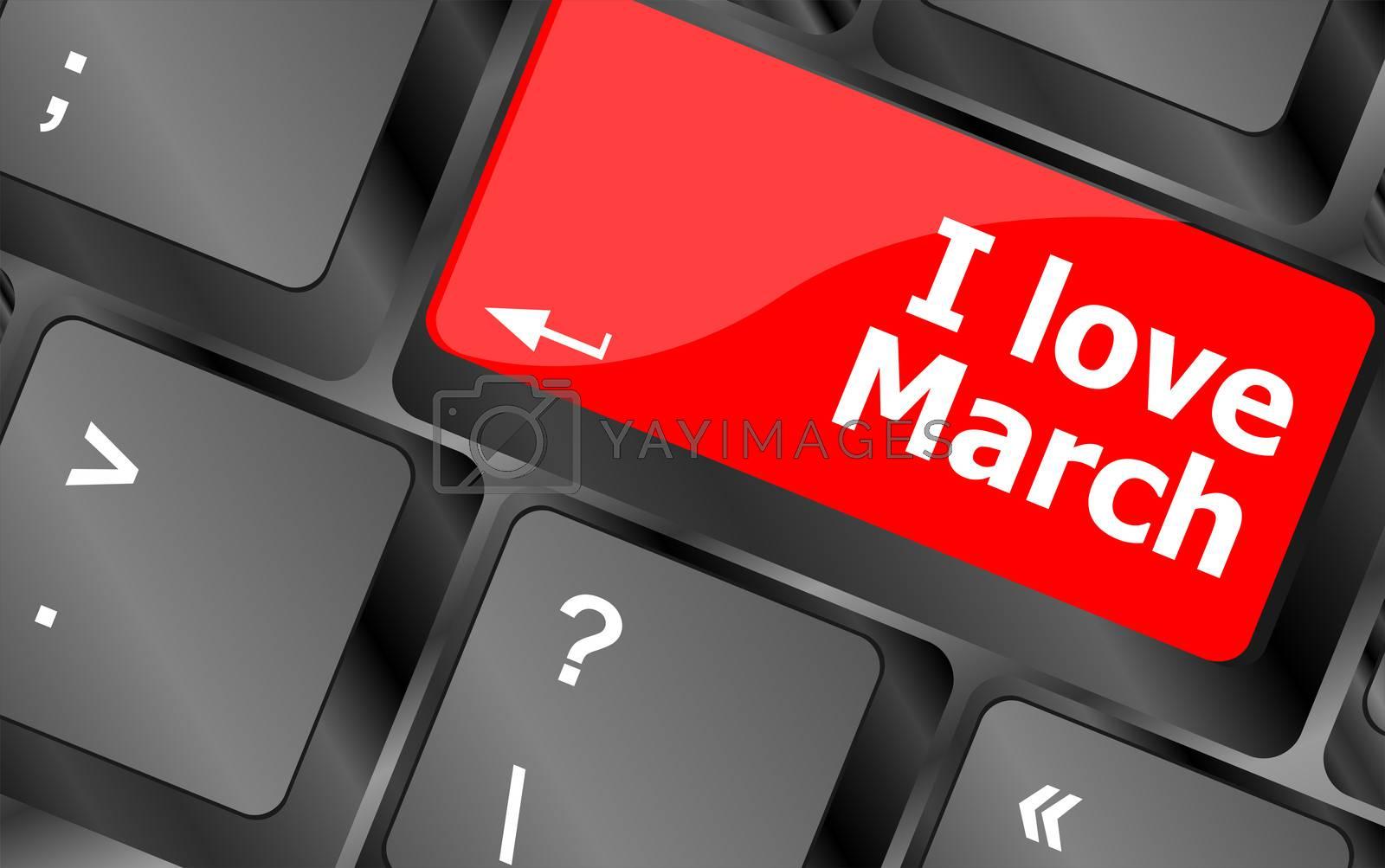 Computer keyboard key - i love march