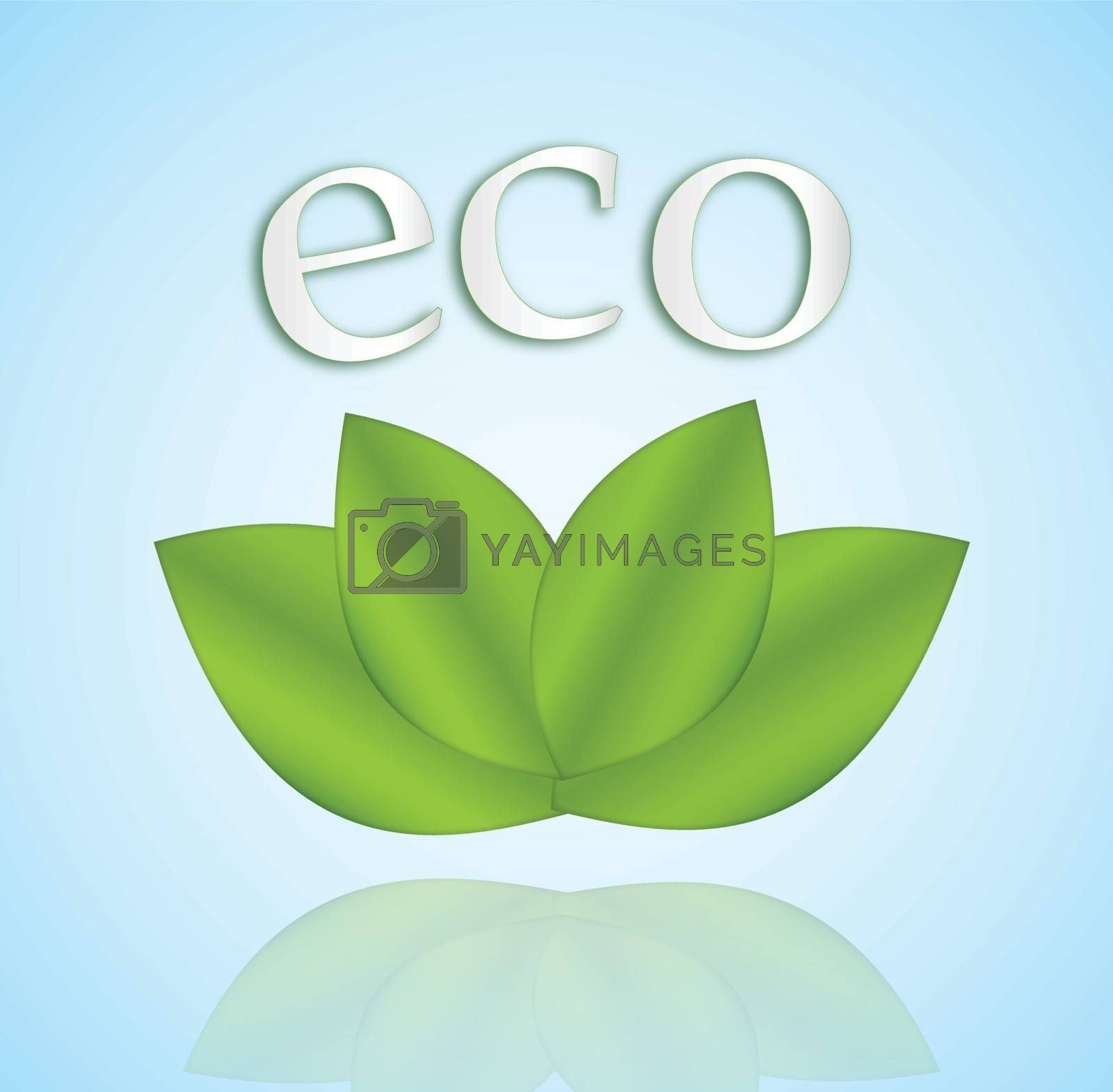 Four leaves and the word 'eco' over them