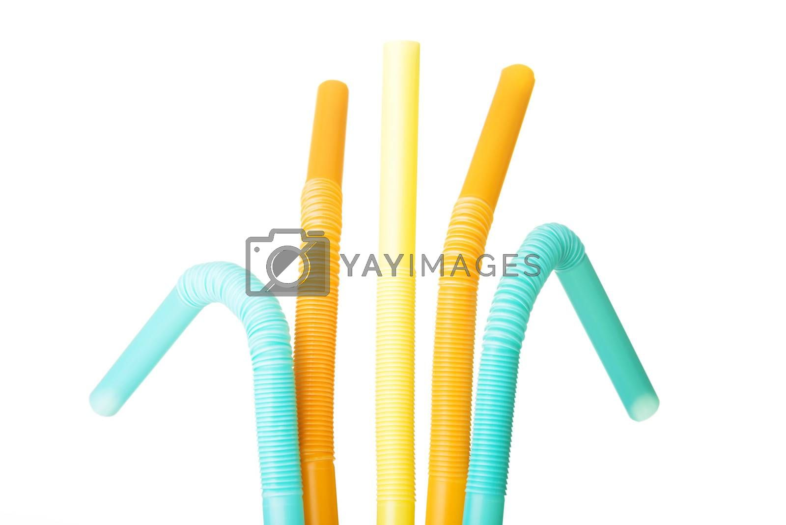 Royalty free image of Colorful straws. Vertical view. by BDS