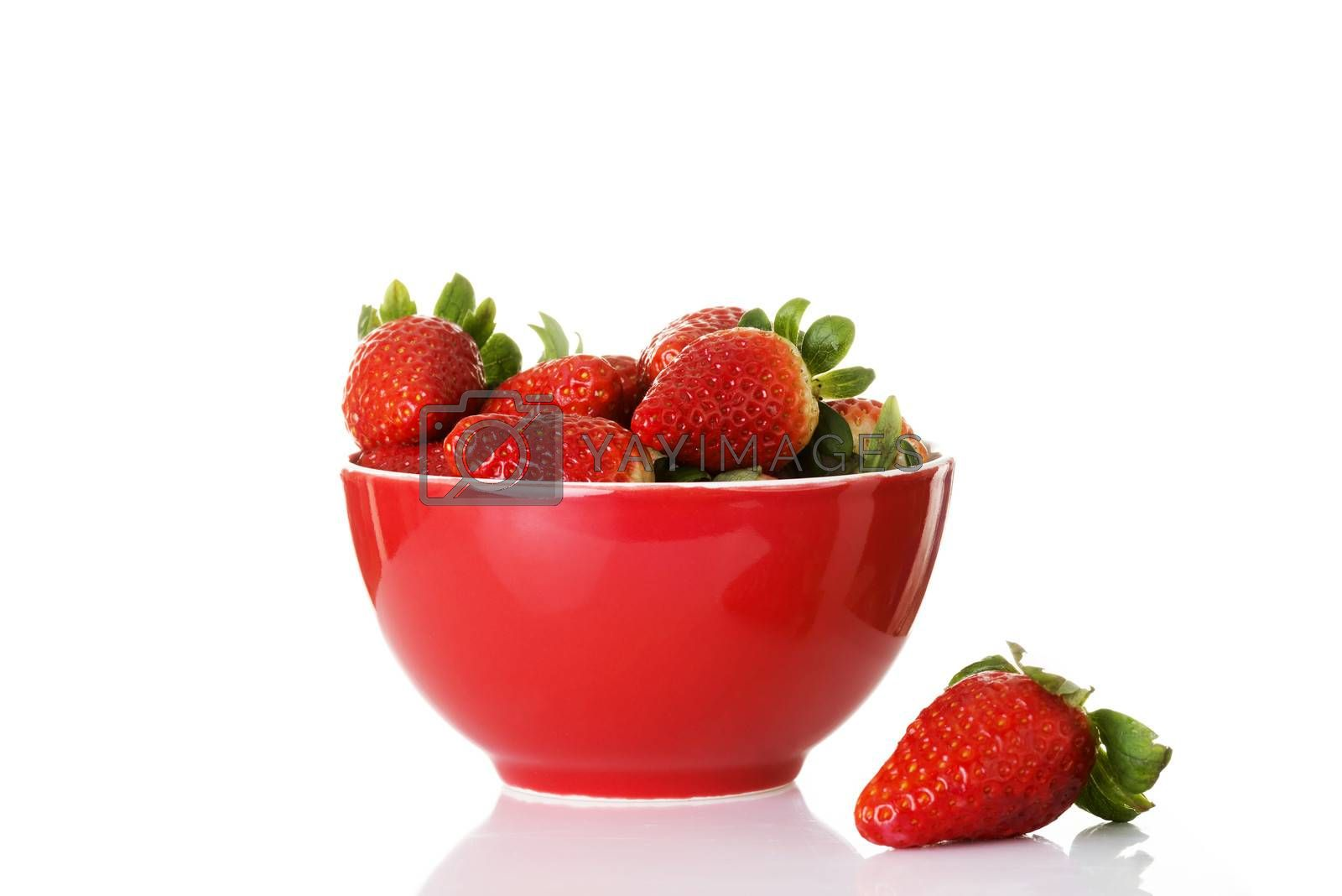 Royalty free image of Fresh red strawberries in a bowl. by BDS