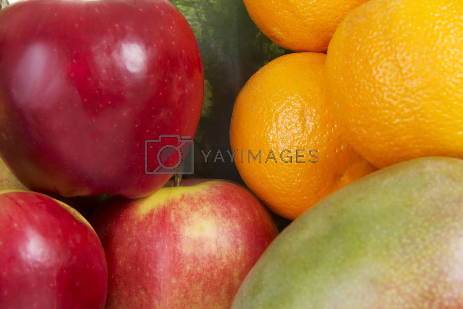 Royalty free image of Close up on fresh fruits. by BDS