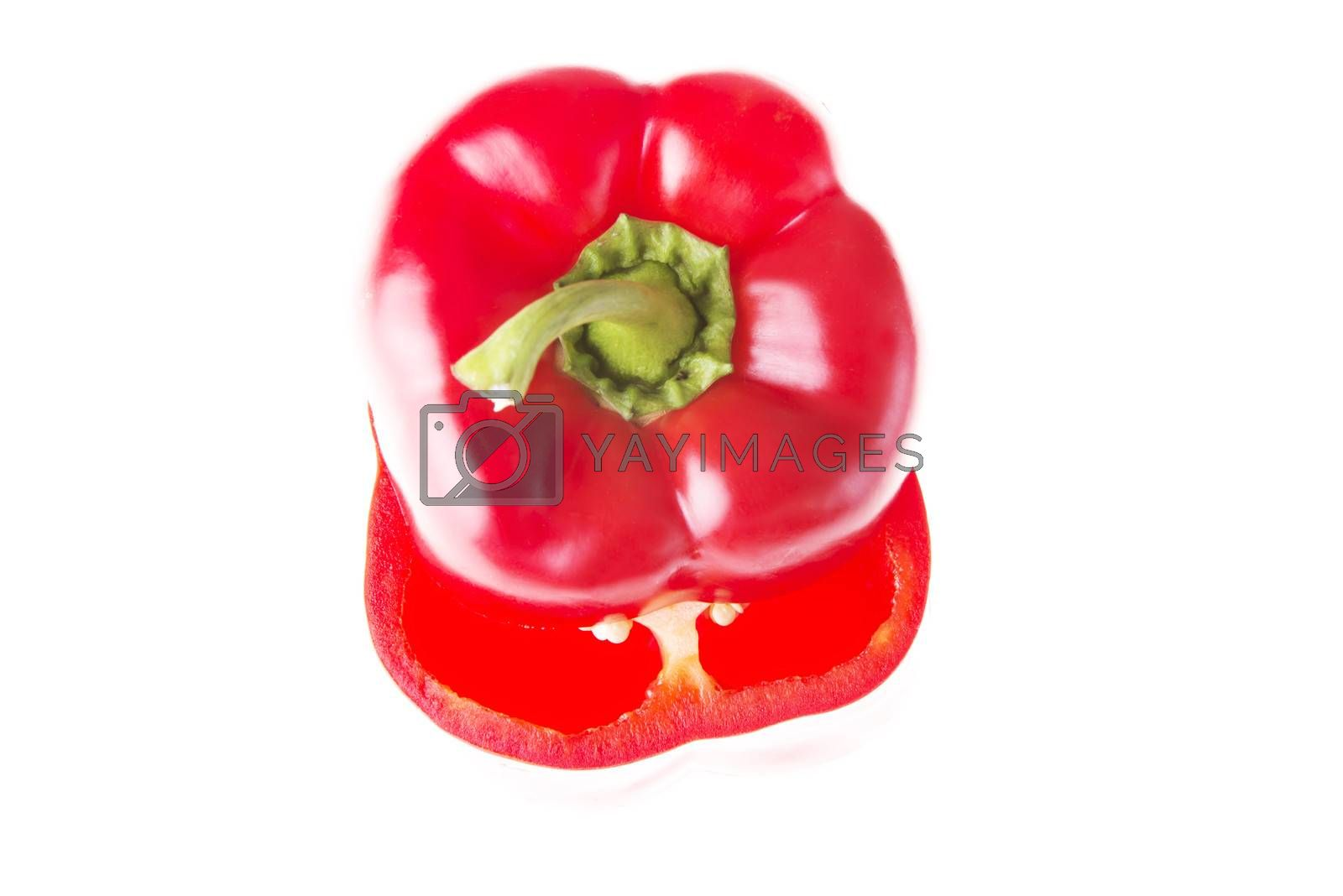 Royalty free image of Two red paprika vegetable. by BDS
