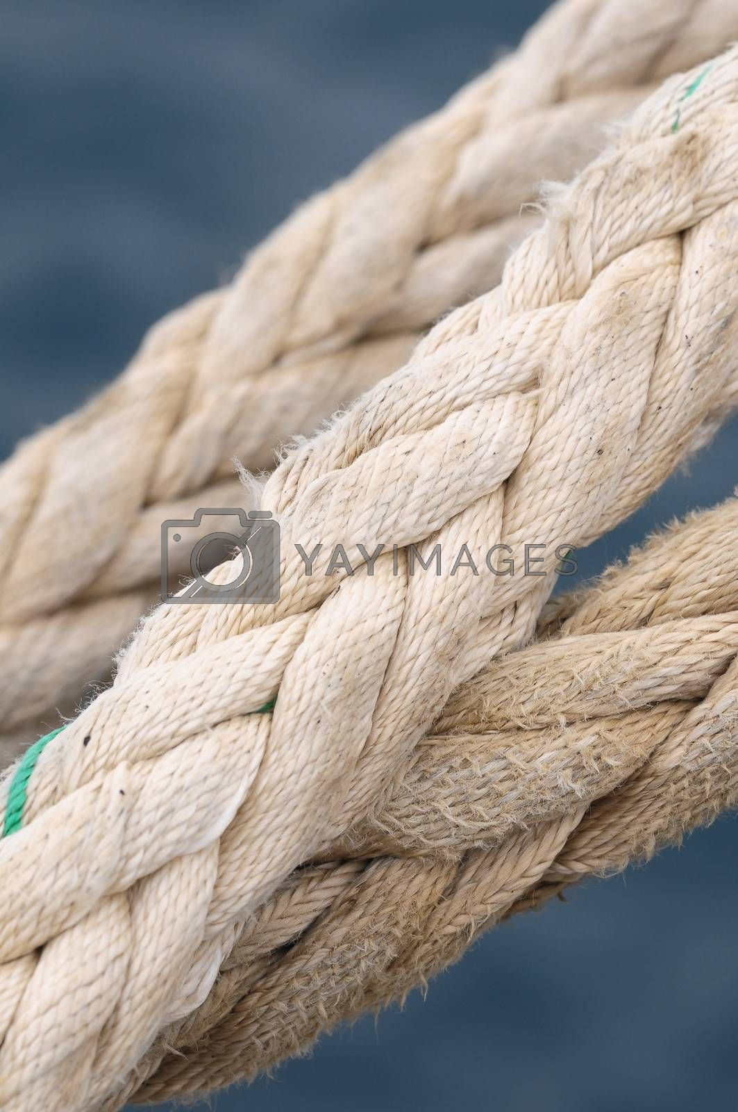 Naval Rope on a Pier, in Canary Islands, Spain