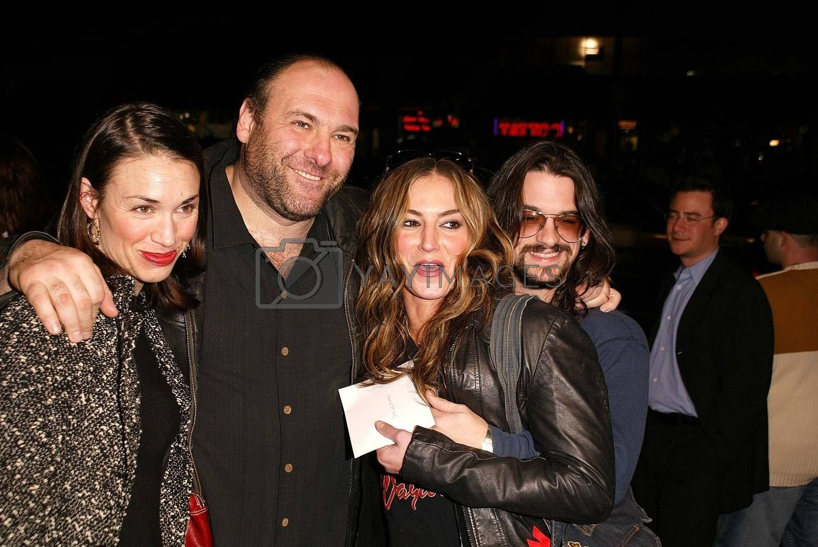 """James Gandolfini and Drea De Matteo at the premiere of Miramax's """"My Baby's Daddy"""" at the Egyptian Theater, Hollywood, CA 01-08-04"""