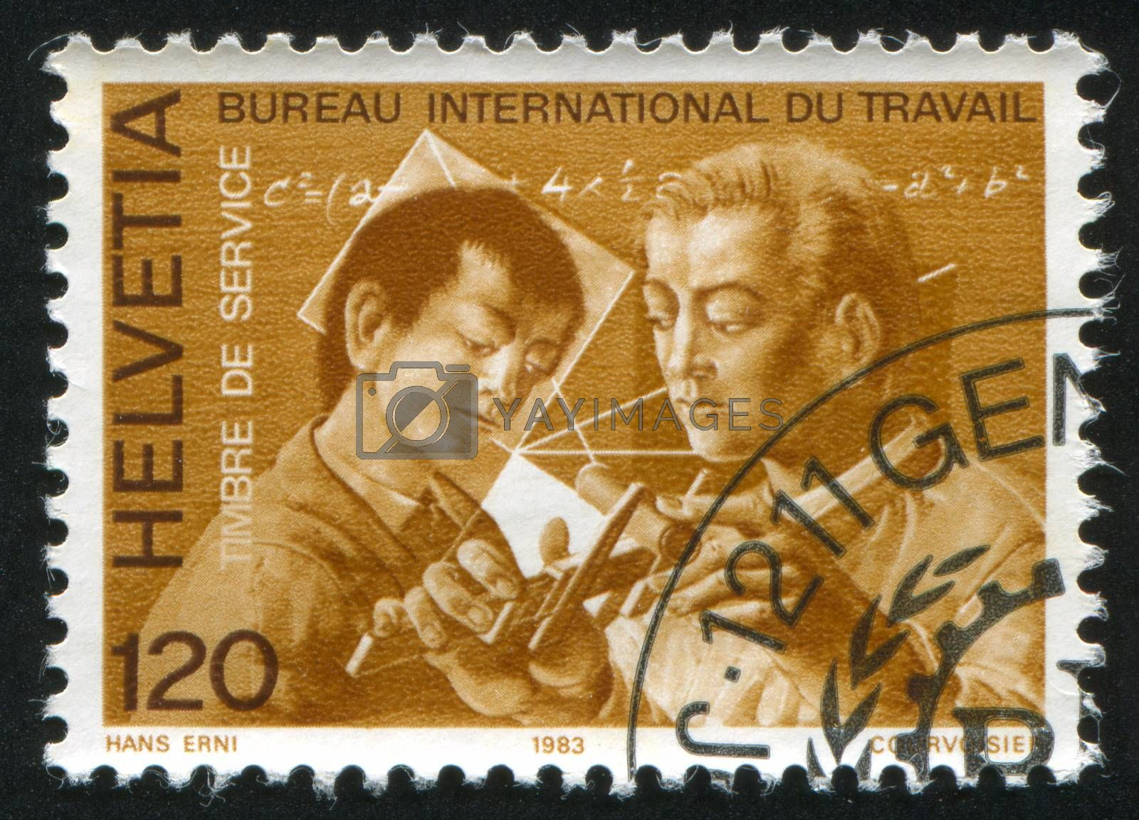 SWITZERLAND - CIRCA 1988: stamp printed by Switzerland, shows Professional education for youth, circa 1988