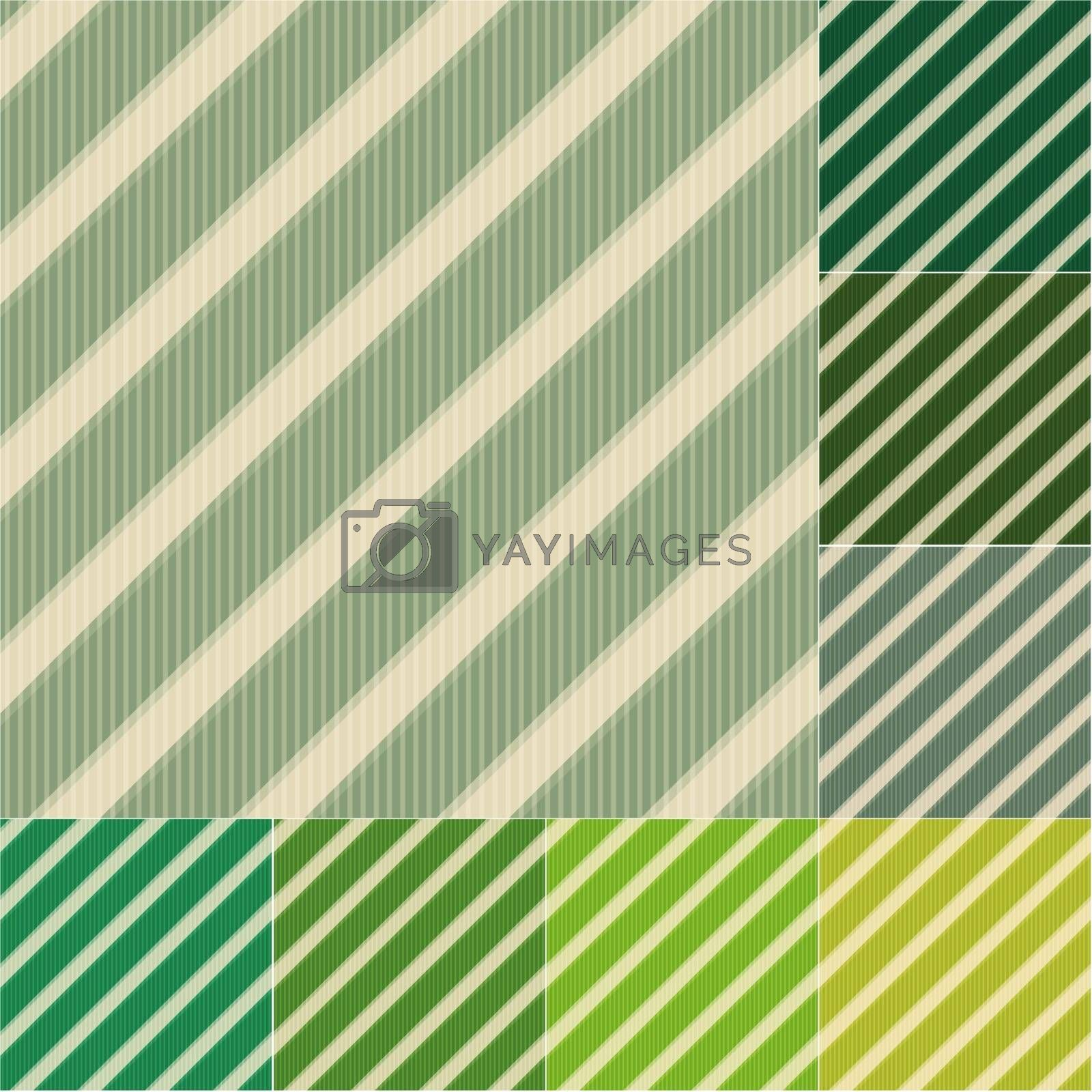 seamless green stripes background set by pauljune