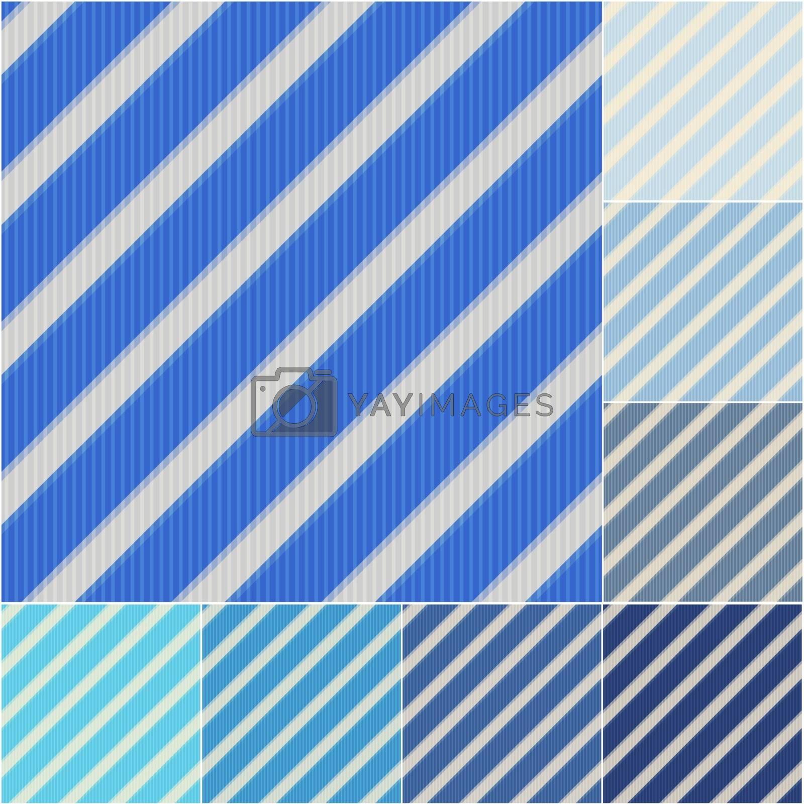 seamless blue and aqua stripes background set